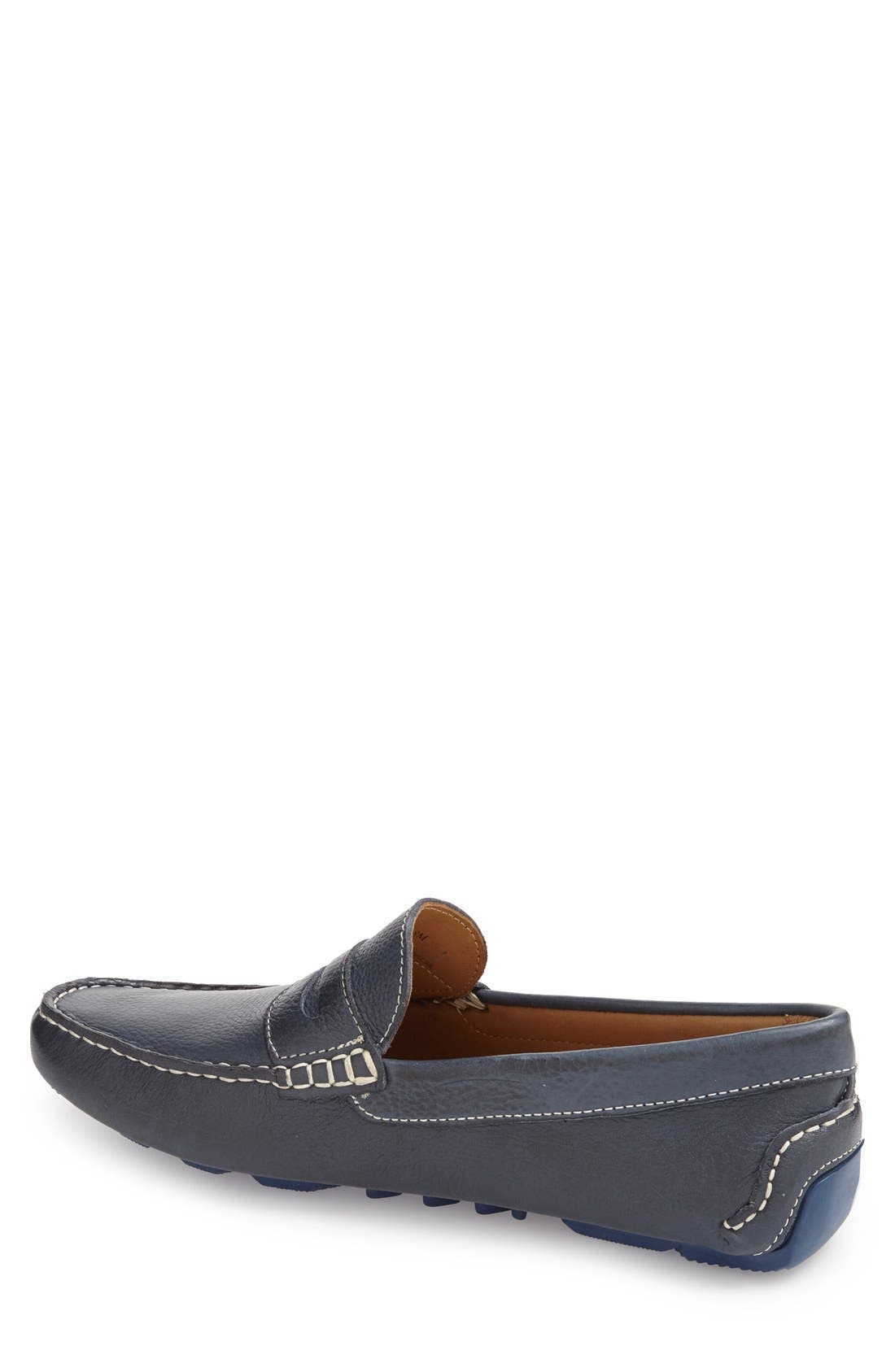'Bermuda' Penny Loafer,                             Alternate thumbnail 2, color,                             MARINE LEATHER