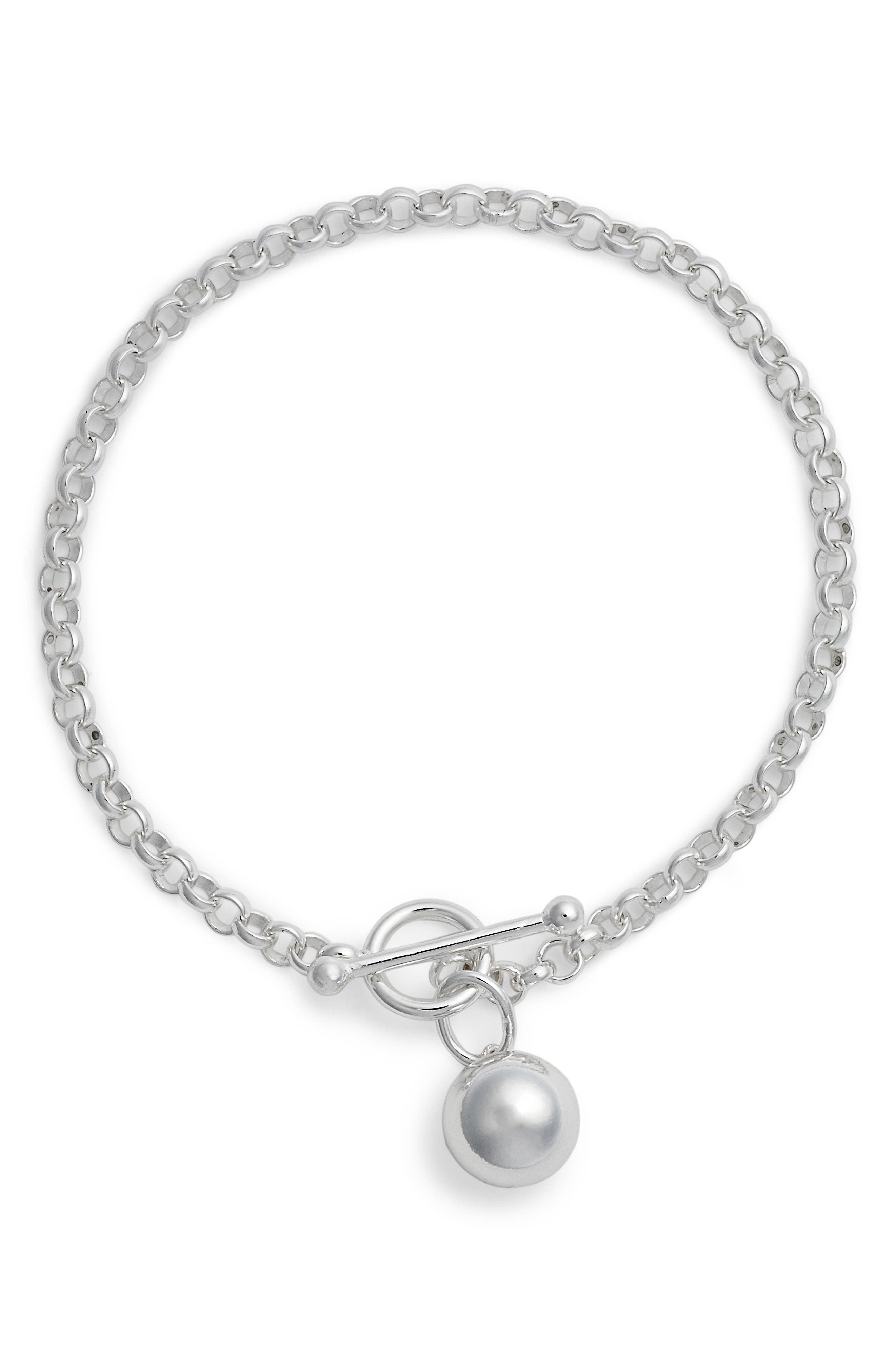 Sphere Charm Link Bracelet,                             Main thumbnail 1, color,                             040