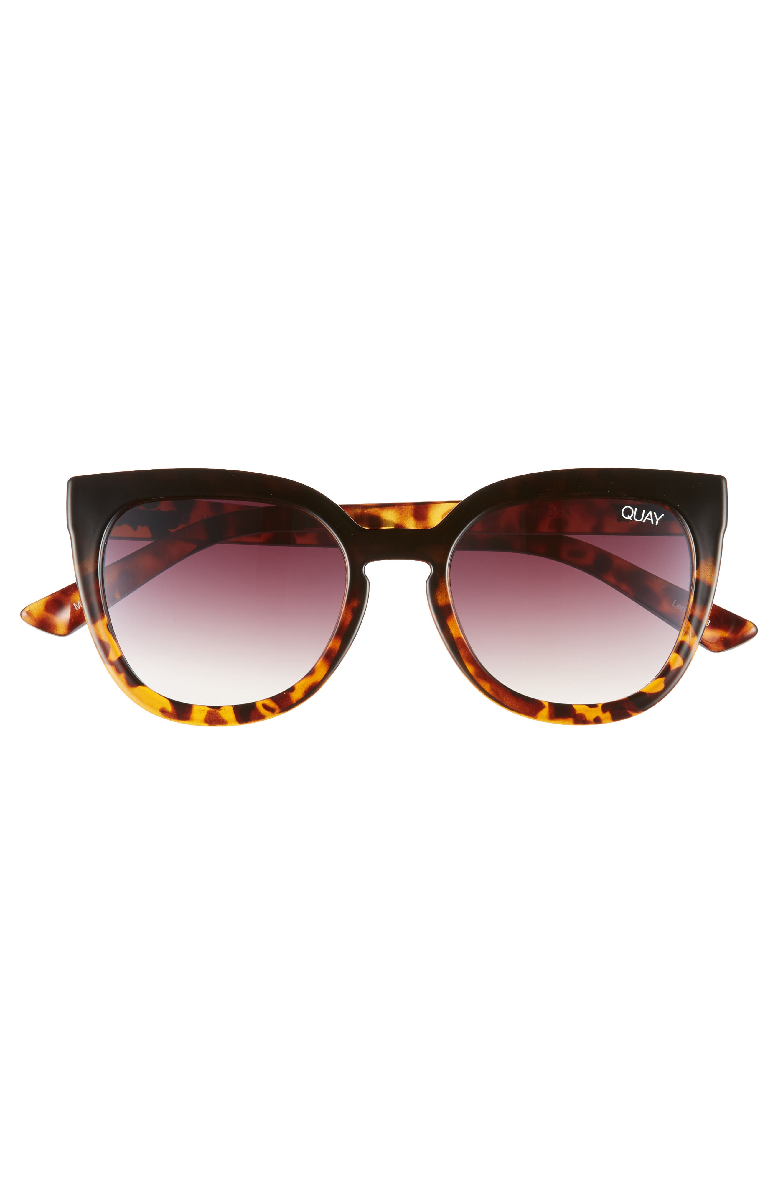 Noosa 50mm Square Sunglasses,                             Alternate thumbnail 3, color,                             BLACK TO TORT / BROWN FADE
