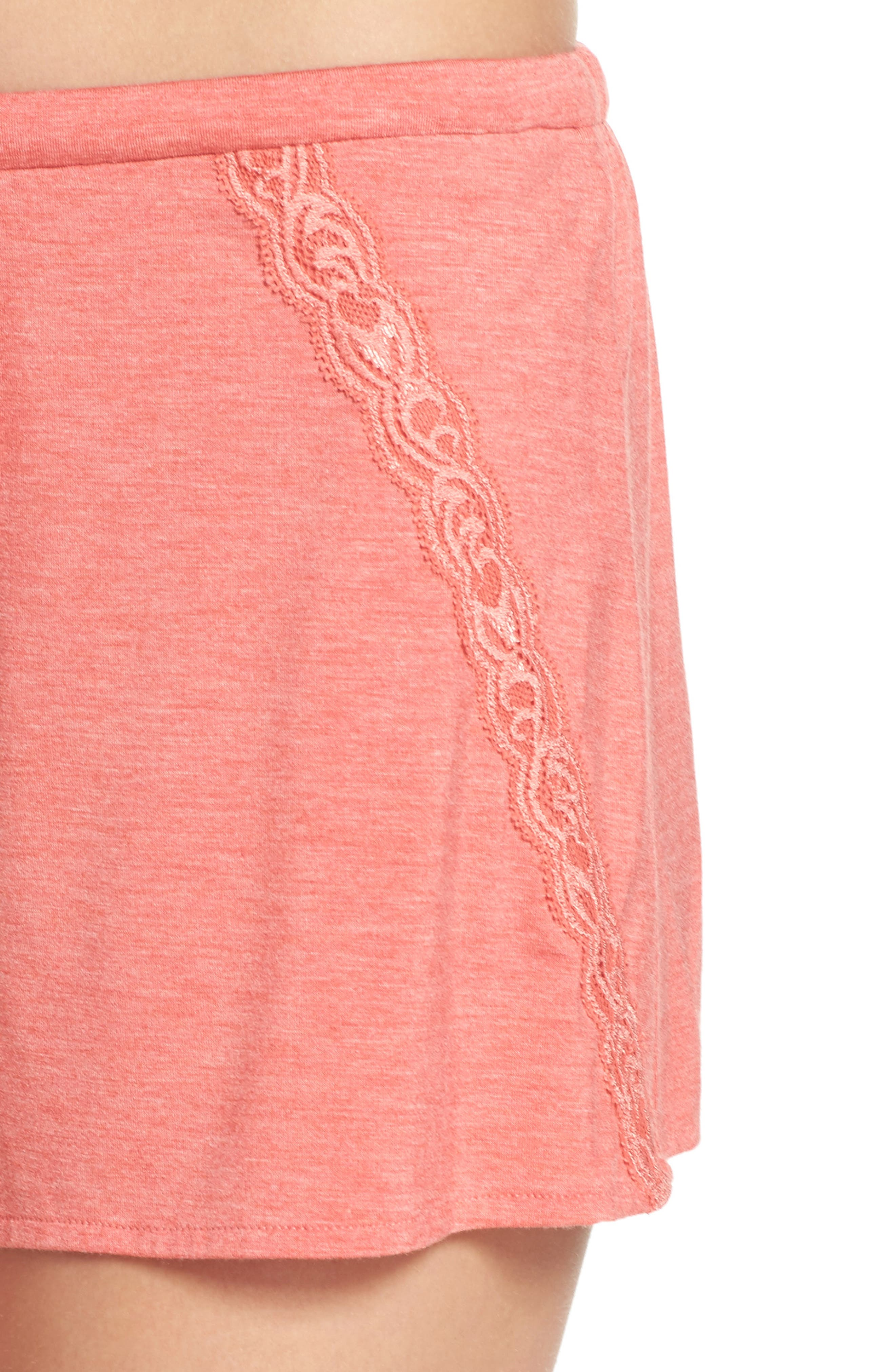 Feathers Essential Pajama Shorts,                             Alternate thumbnail 8, color,