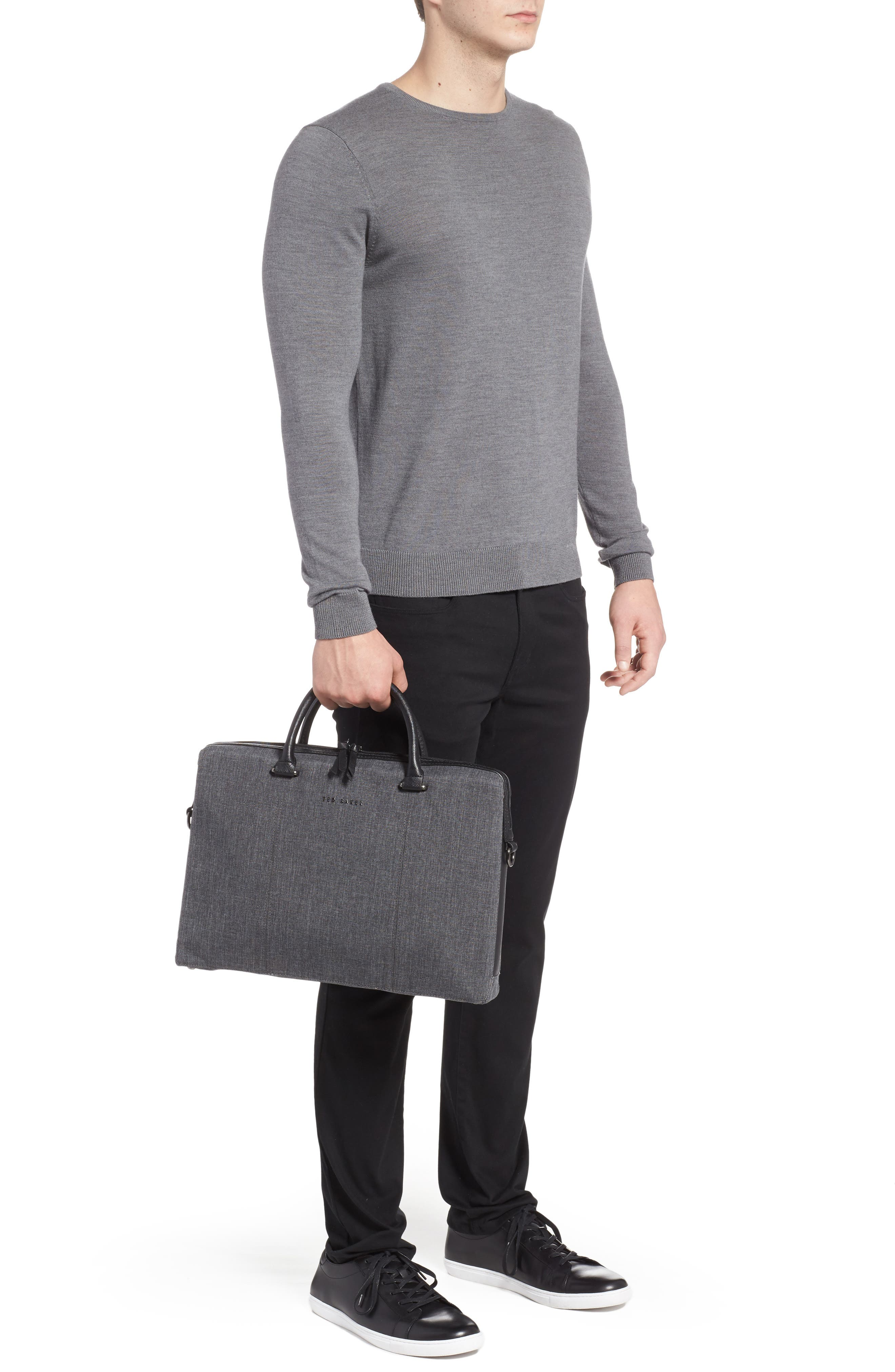 TED BAKER LONDON,                             Citrice Document Briefcase,                             Alternate thumbnail 2, color,                             CHARCOAL