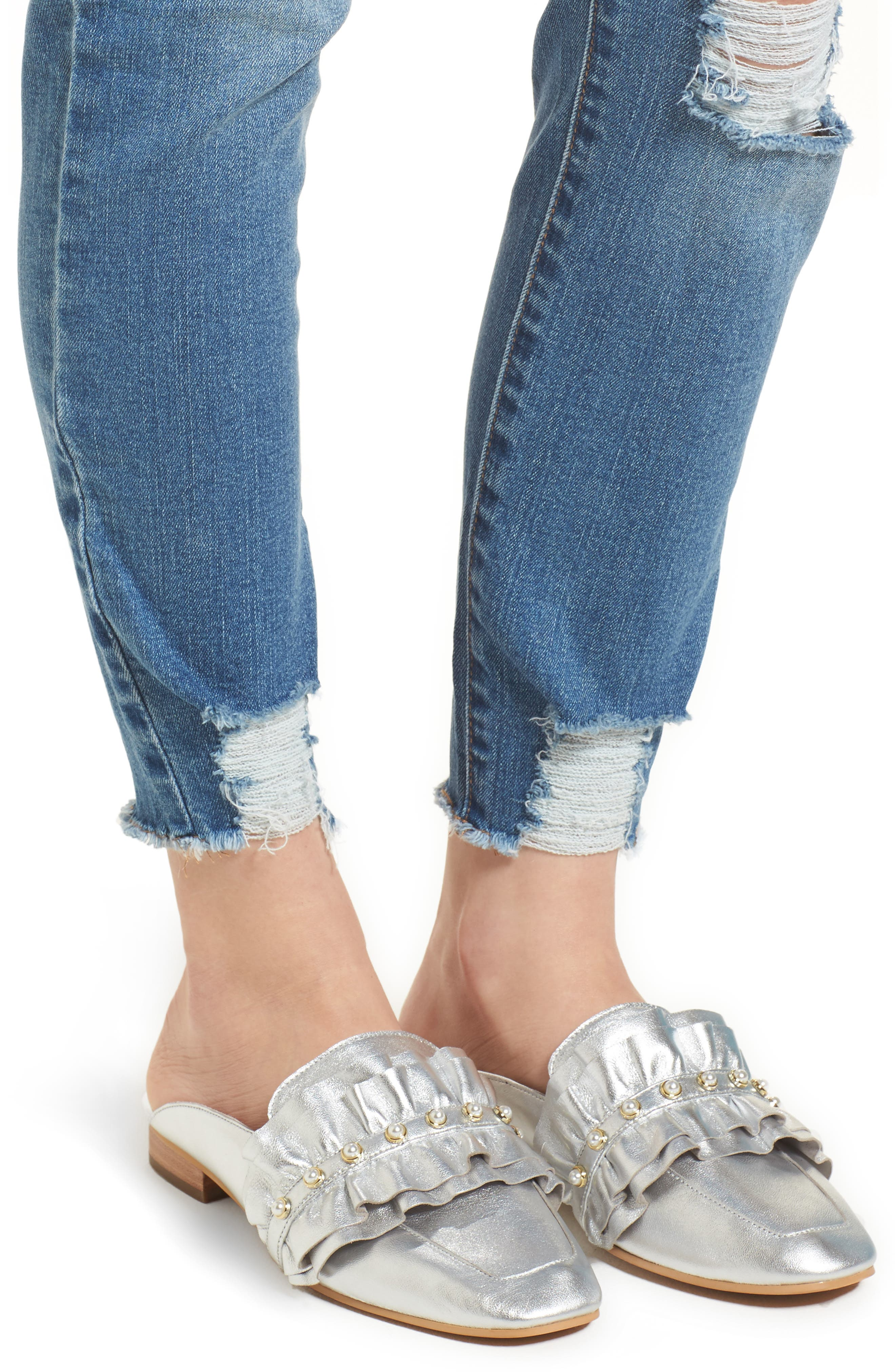 Decon Ripped Skinny Jeans,                             Alternate thumbnail 4, color,                             426