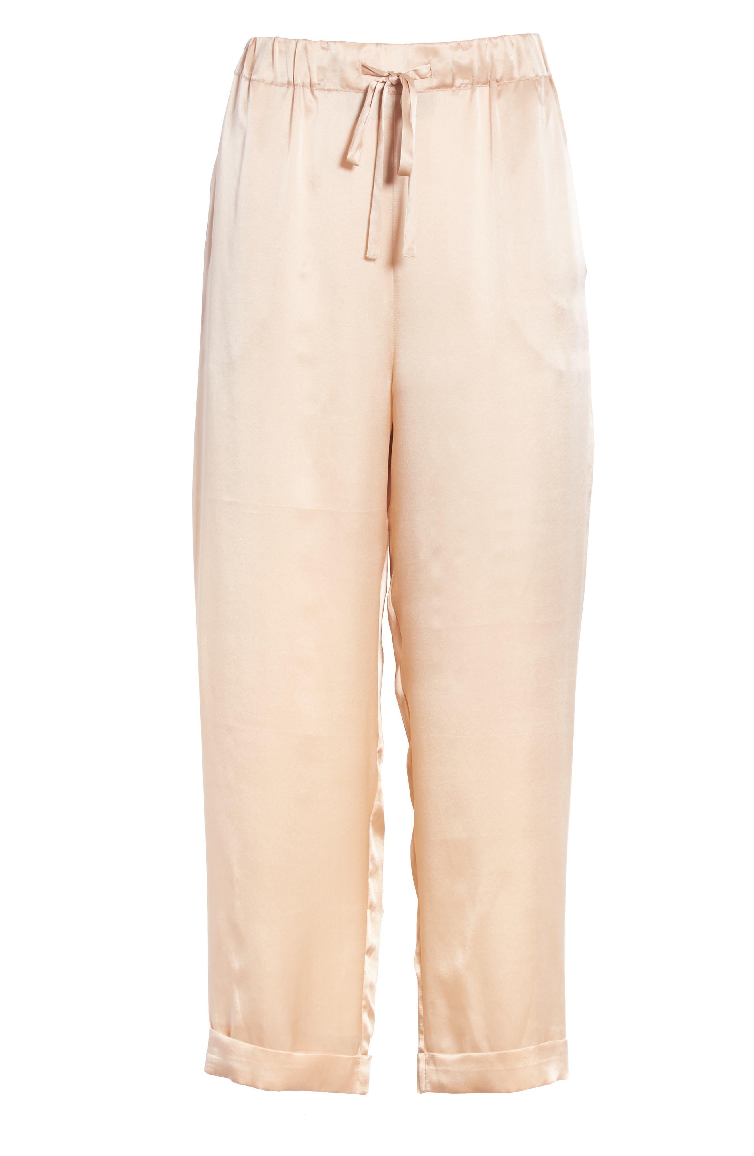 Fester Silk Ankle Pants,                             Alternate thumbnail 6, color,                             250
