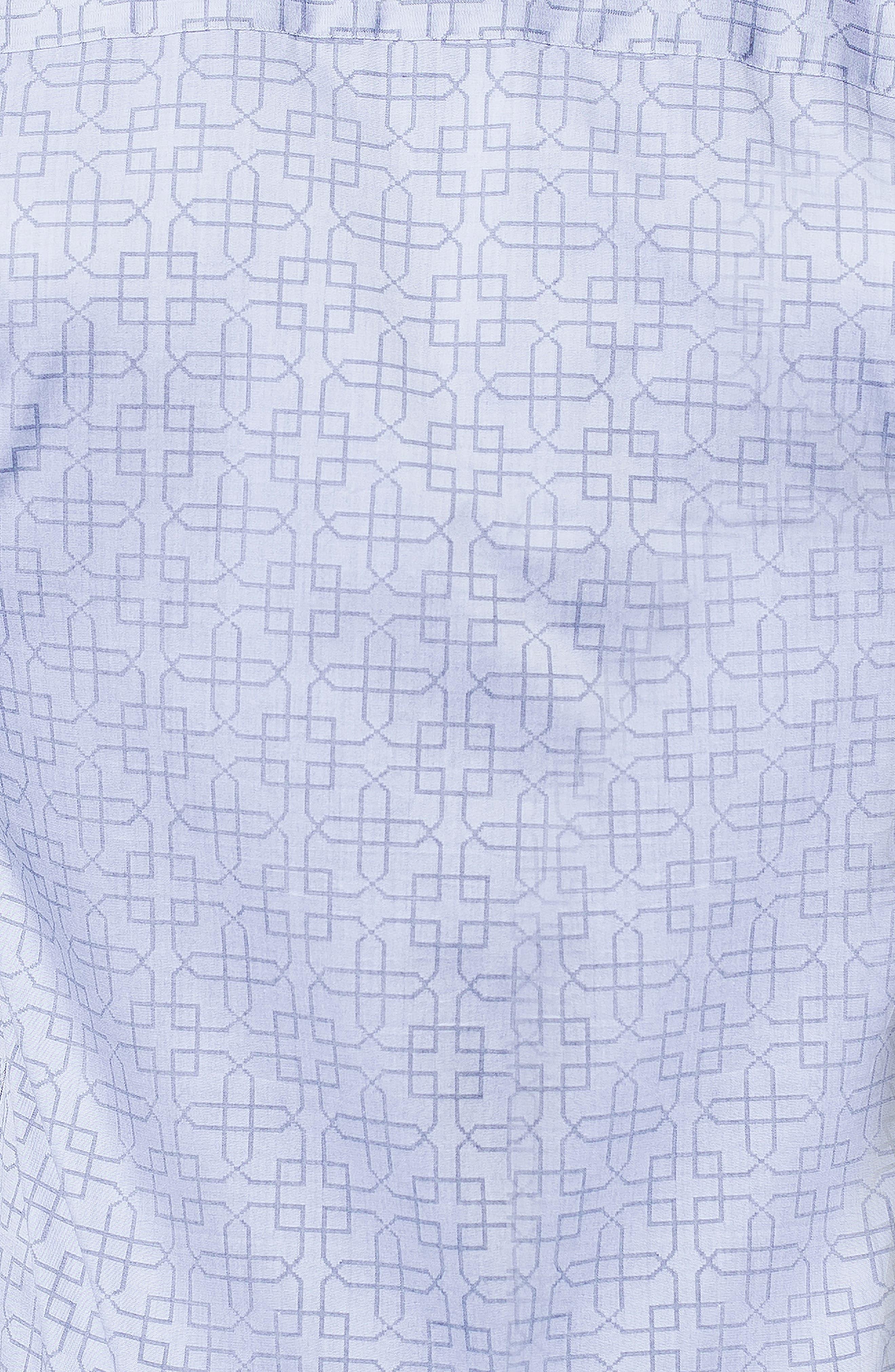 Einstein Architecture Trim Fit Sport Shirt,                             Alternate thumbnail 3, color,                             GREY