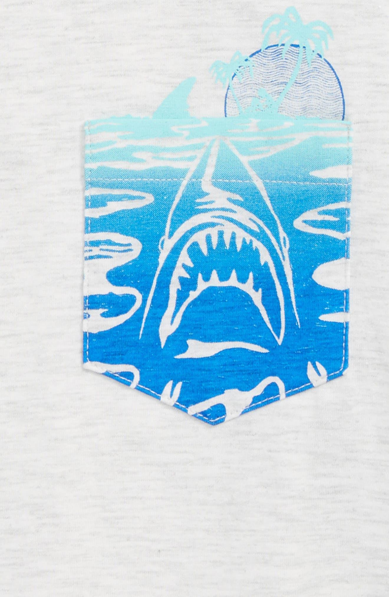 'Pocket Play' Screenprint T-Shirt,                             Alternate thumbnail 2, color,                             BIRCH HEATHER