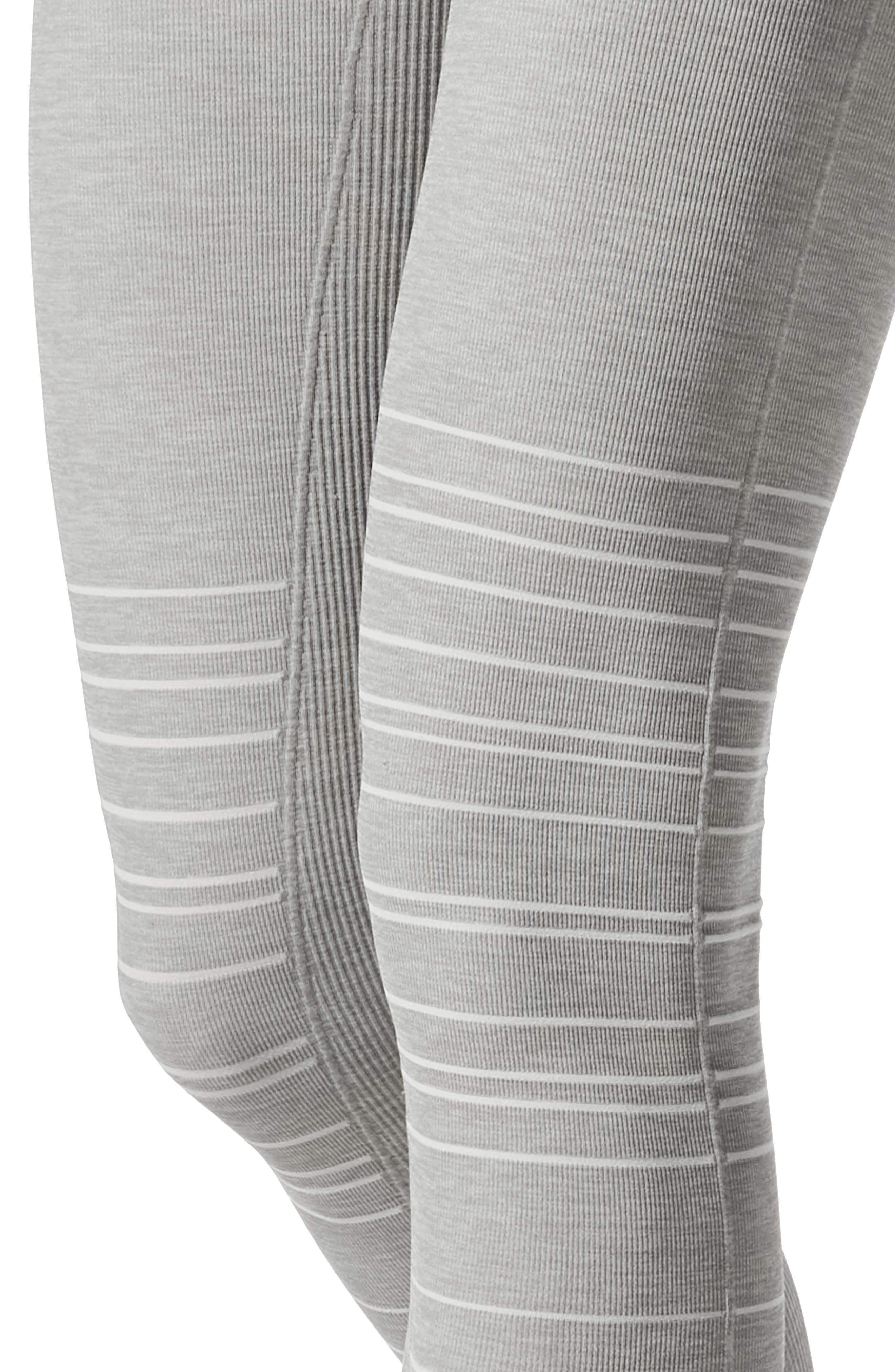 SportSupport<sup>®</sup> Hipster Cuffed Support Maternity/Postpartum Leggings,                             Alternate thumbnail 3, color,                             DOVE GREY