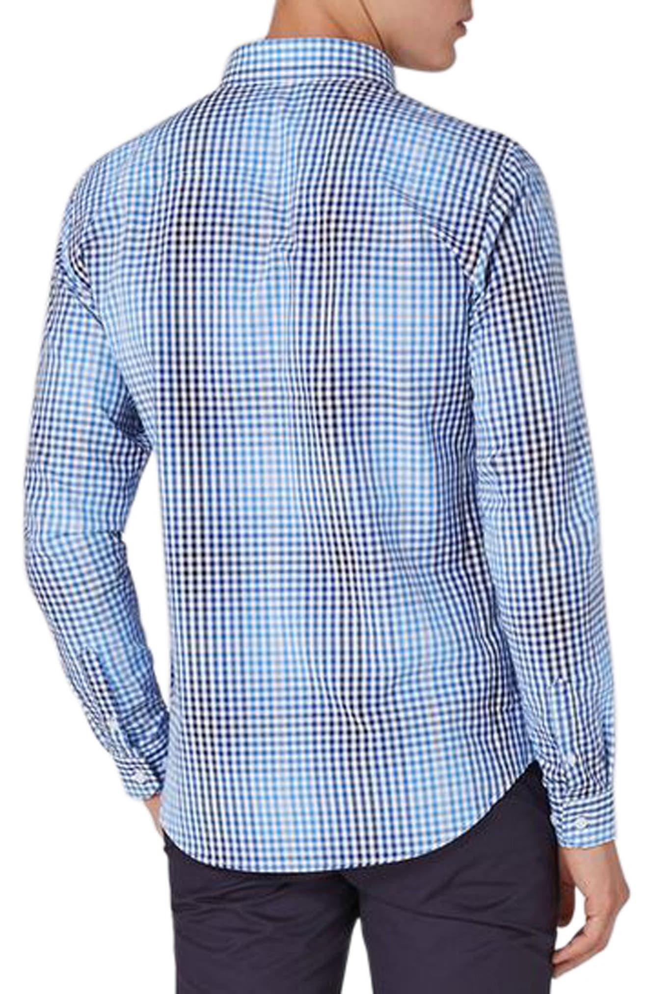 Ombré Gingham Woven Shirt,                             Alternate thumbnail 2, color,