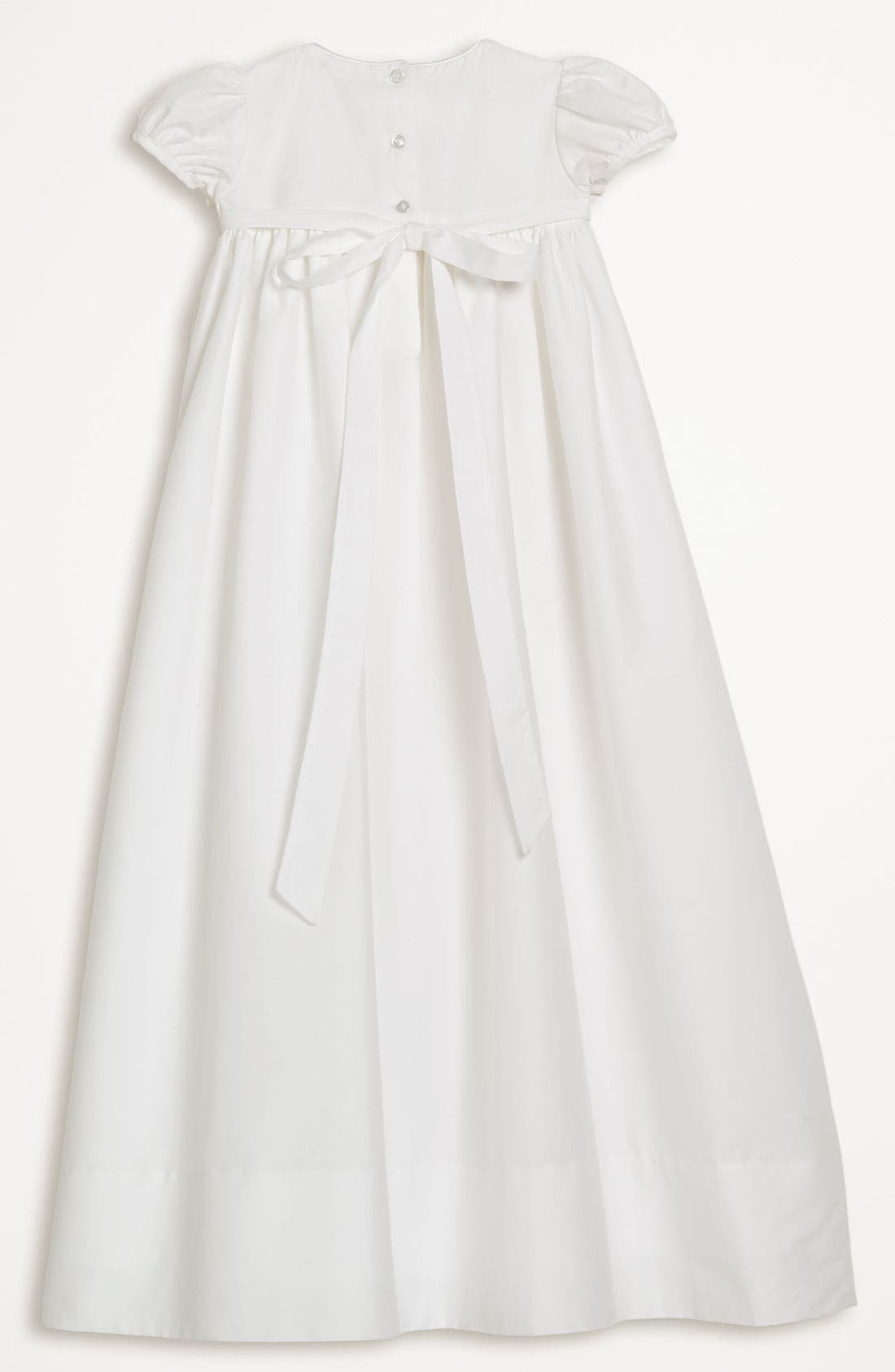 Gown & Bonnet,                             Alternate thumbnail 2, color,                             WHITE