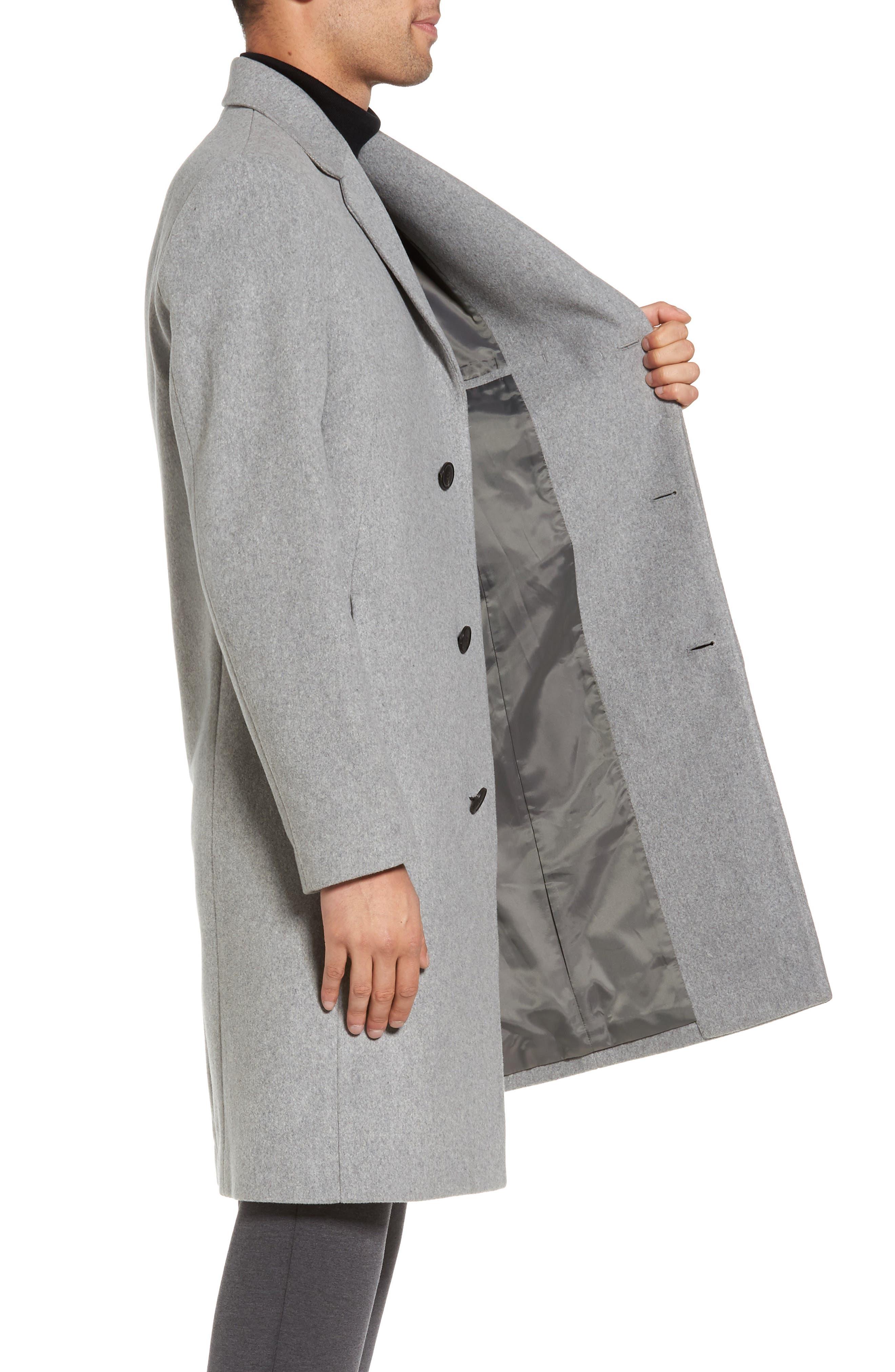 Bower Melton Wool Blend Topcoat,                             Alternate thumbnail 7, color,