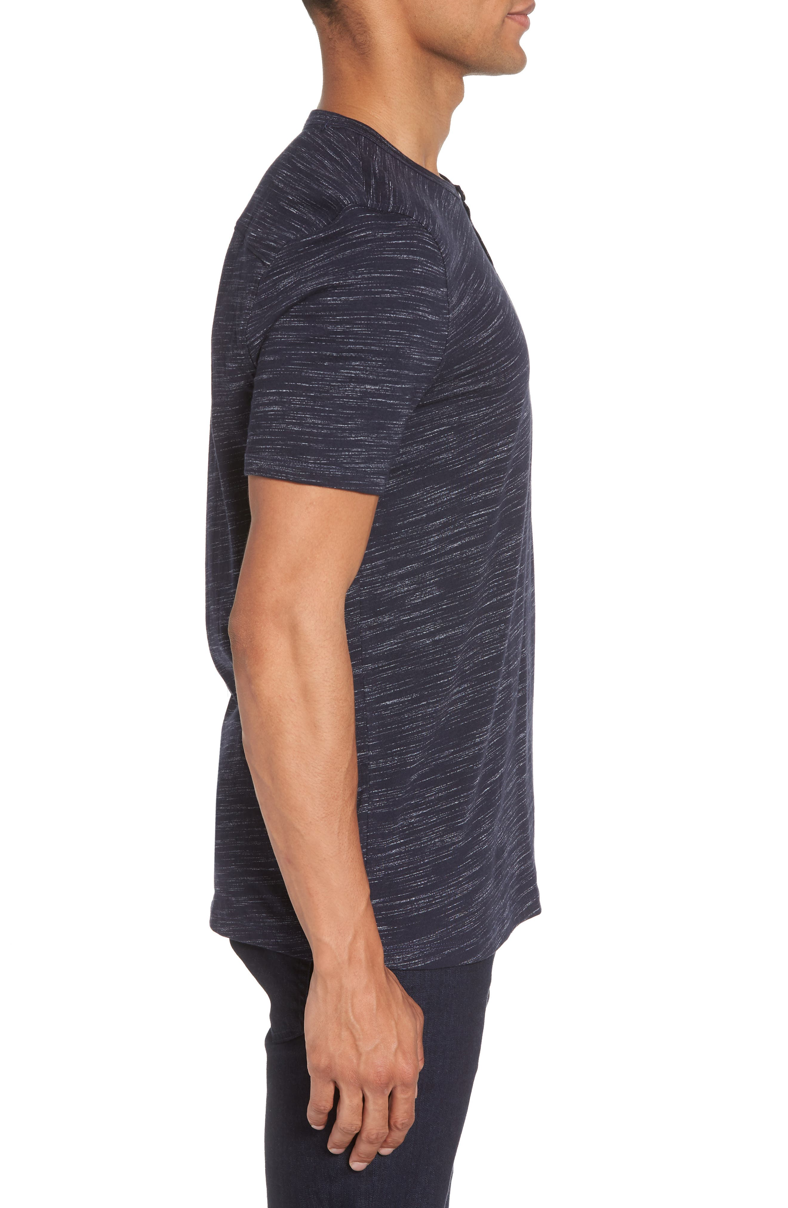 Space Dyed One-Button Henley T-Shirt,                             Alternate thumbnail 14, color,