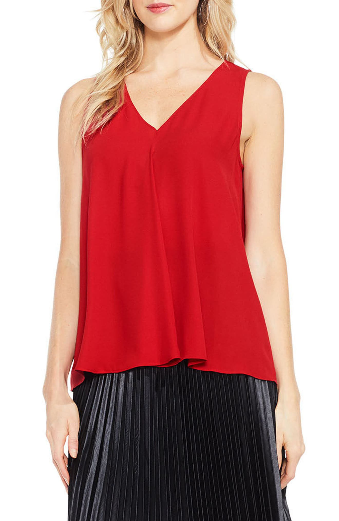 Drape Front V-Neck Sleeveless Blouse,                             Main thumbnail 20, color,