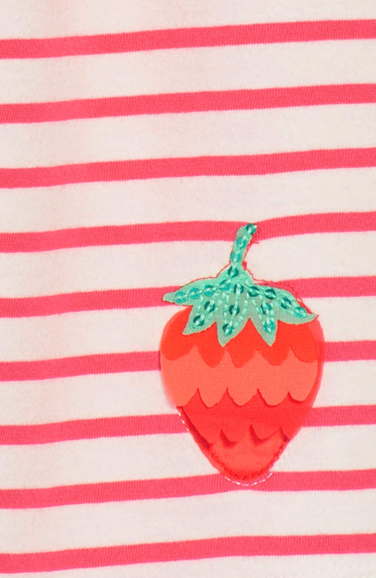 Strawberry Stripe Sundress,                             Alternate thumbnail 3, color,                             664