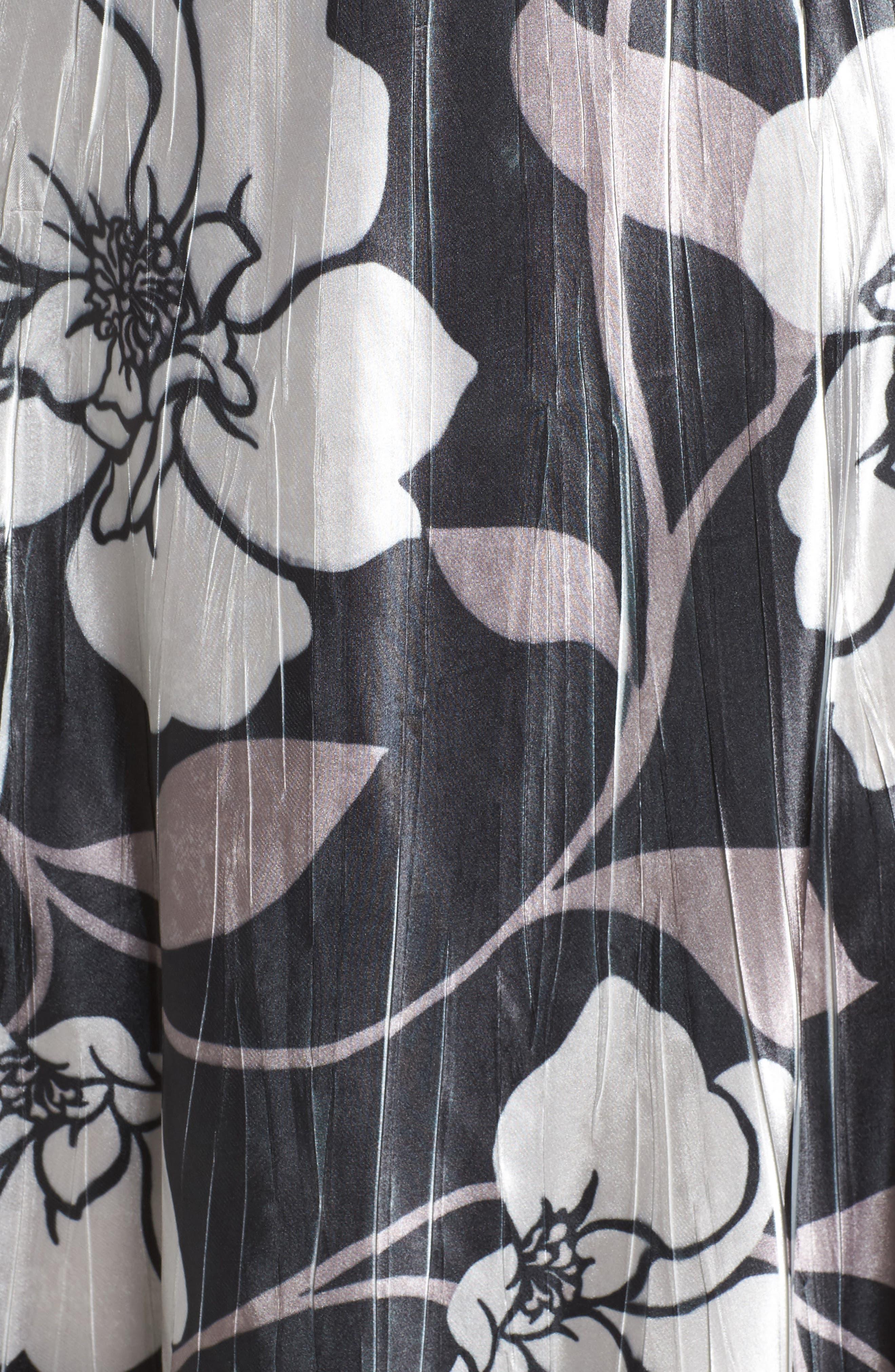 Floral A-Line Dress,                             Alternate thumbnail 5, color,                             016