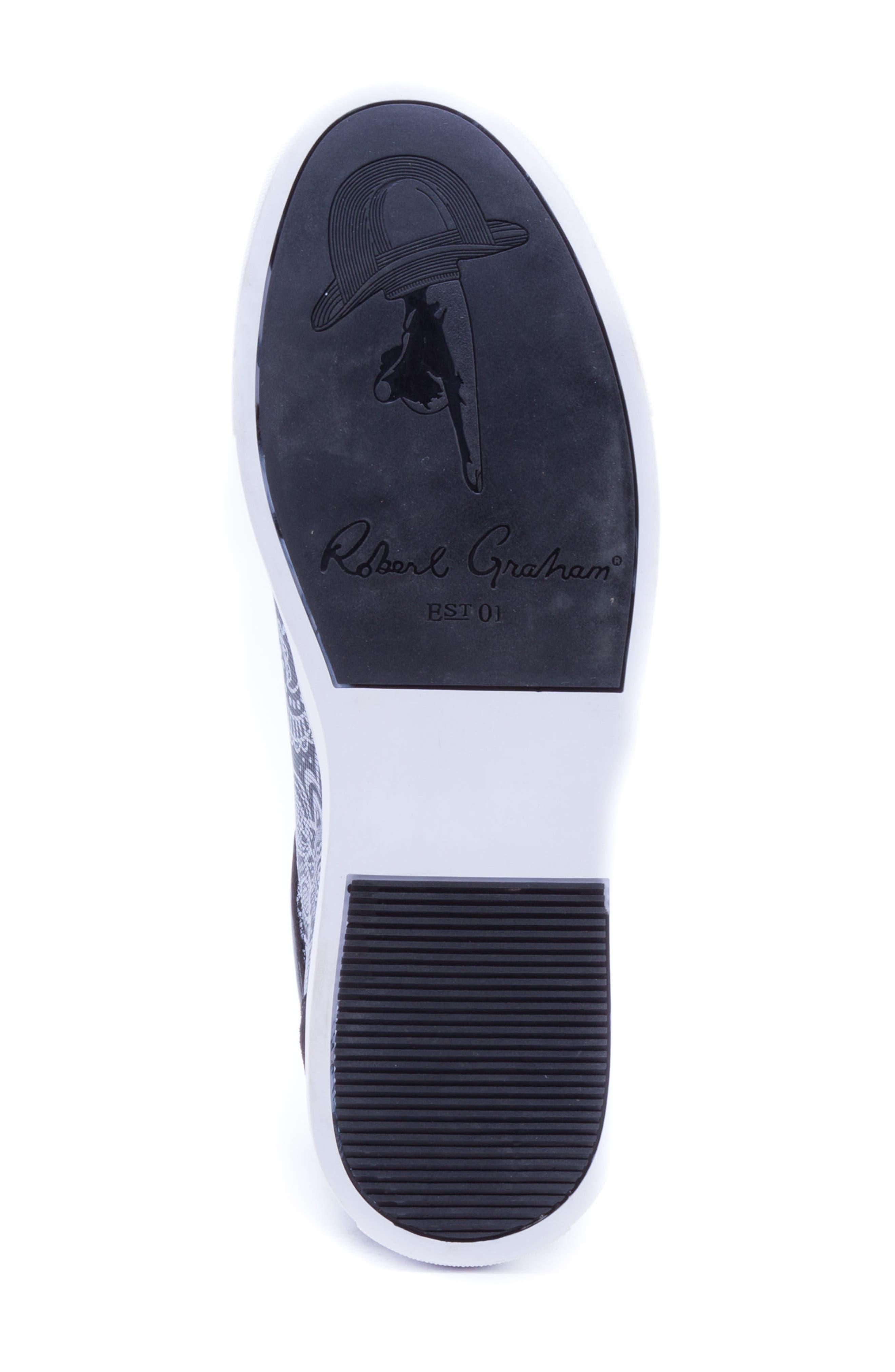 Rubio Floral Sneaker,                             Alternate thumbnail 6, color,                             BLACK SUEDE