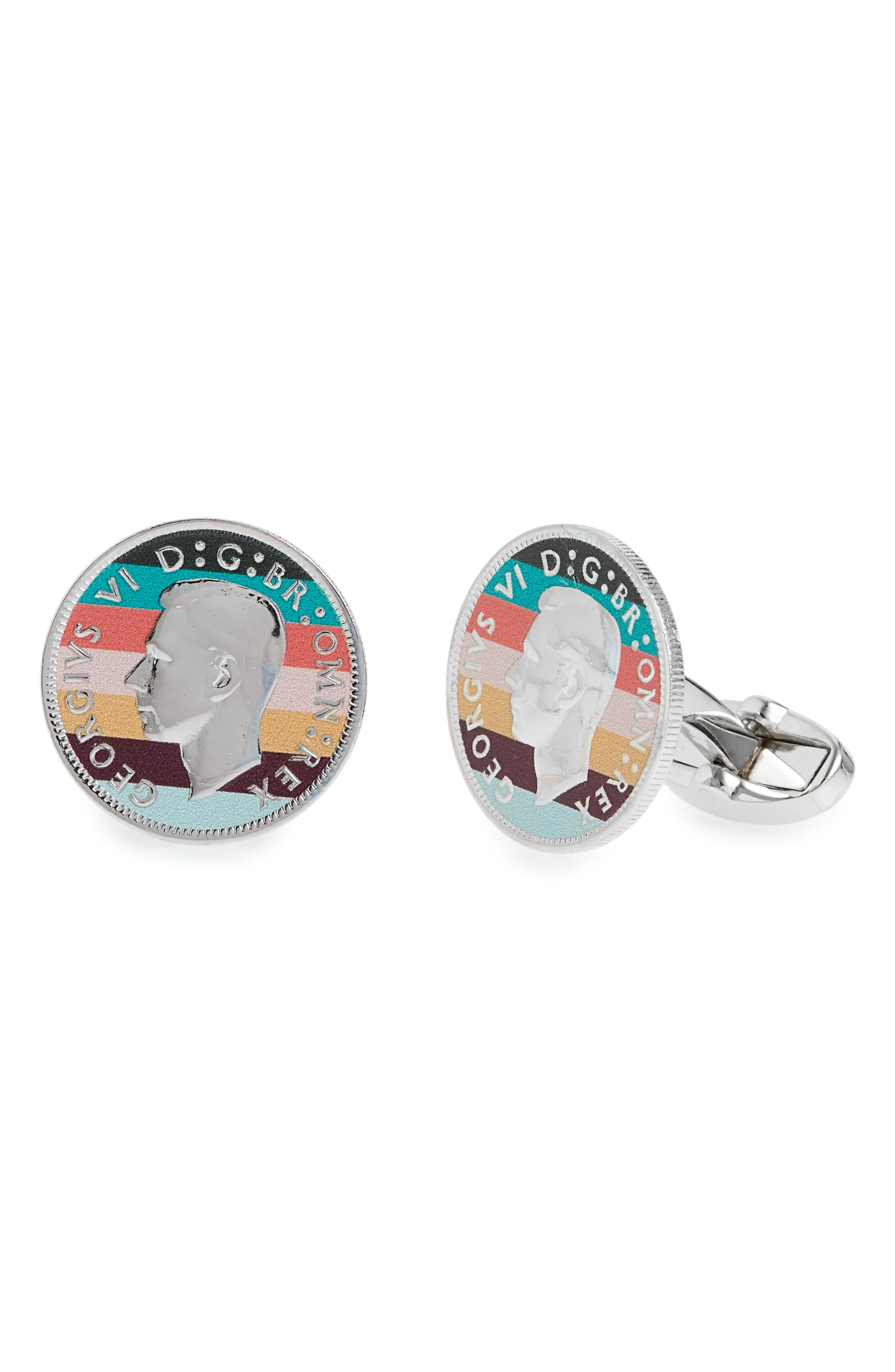 Coin Cuff Links,                         Main,                         color, 040
