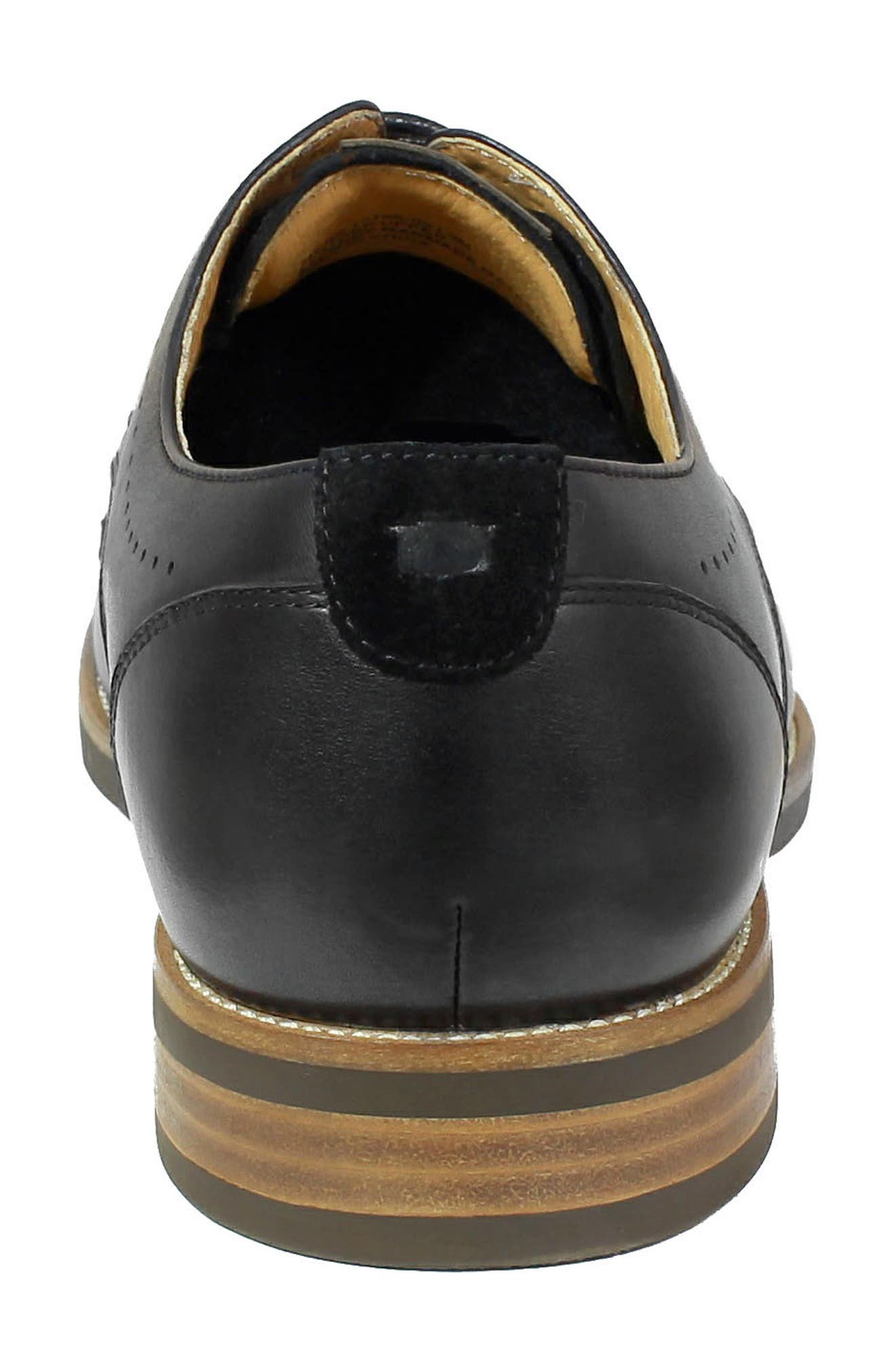 Uptown Cap Toe Derby,                             Alternate thumbnail 7, color,                             BLACK LEATHER