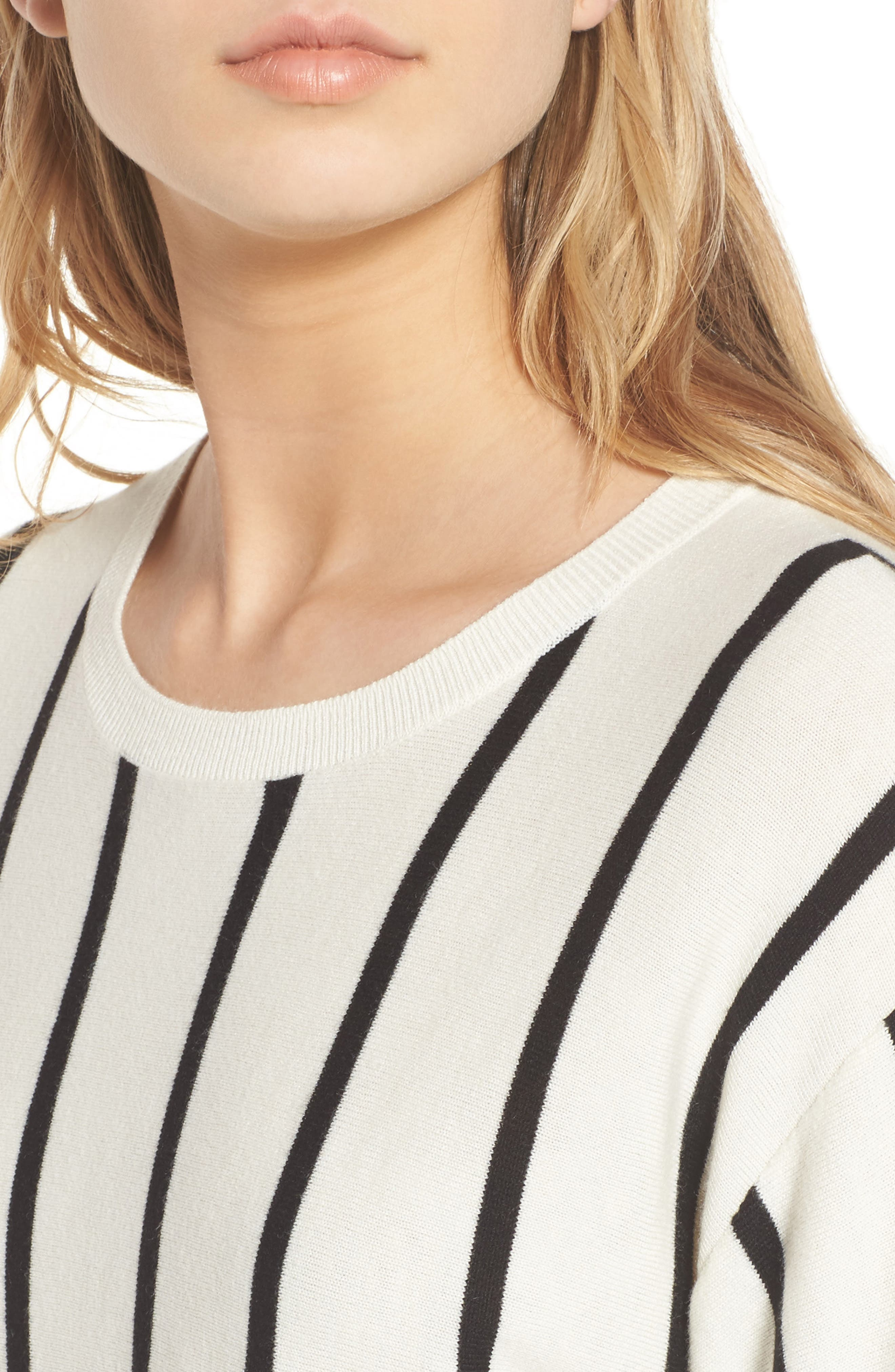 Vertical Stripe Sweater,                             Alternate thumbnail 4, color,                             900
