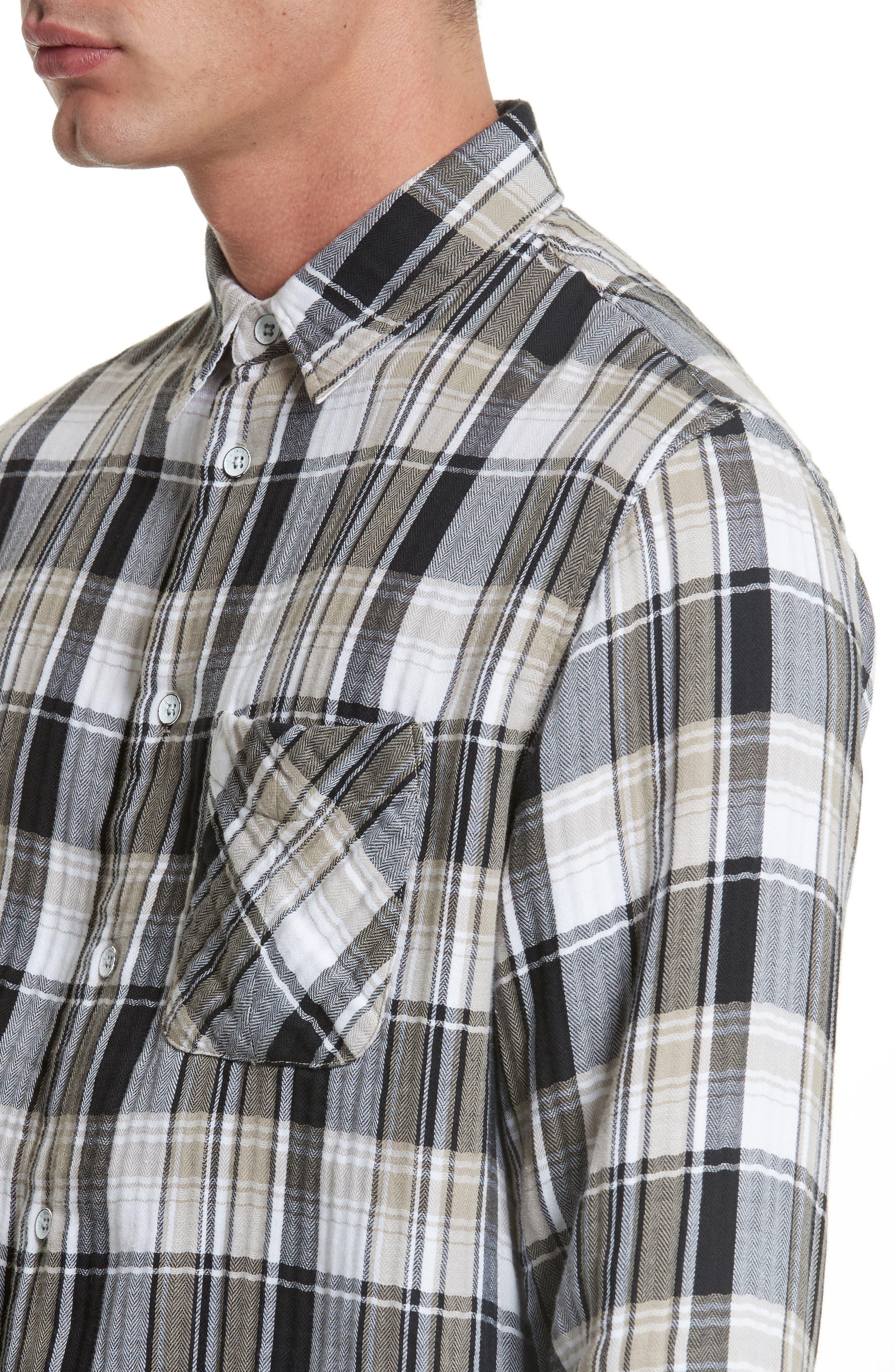 Fit 3 Beach Plaid Woven Shirt,                             Alternate thumbnail 4, color,                             200