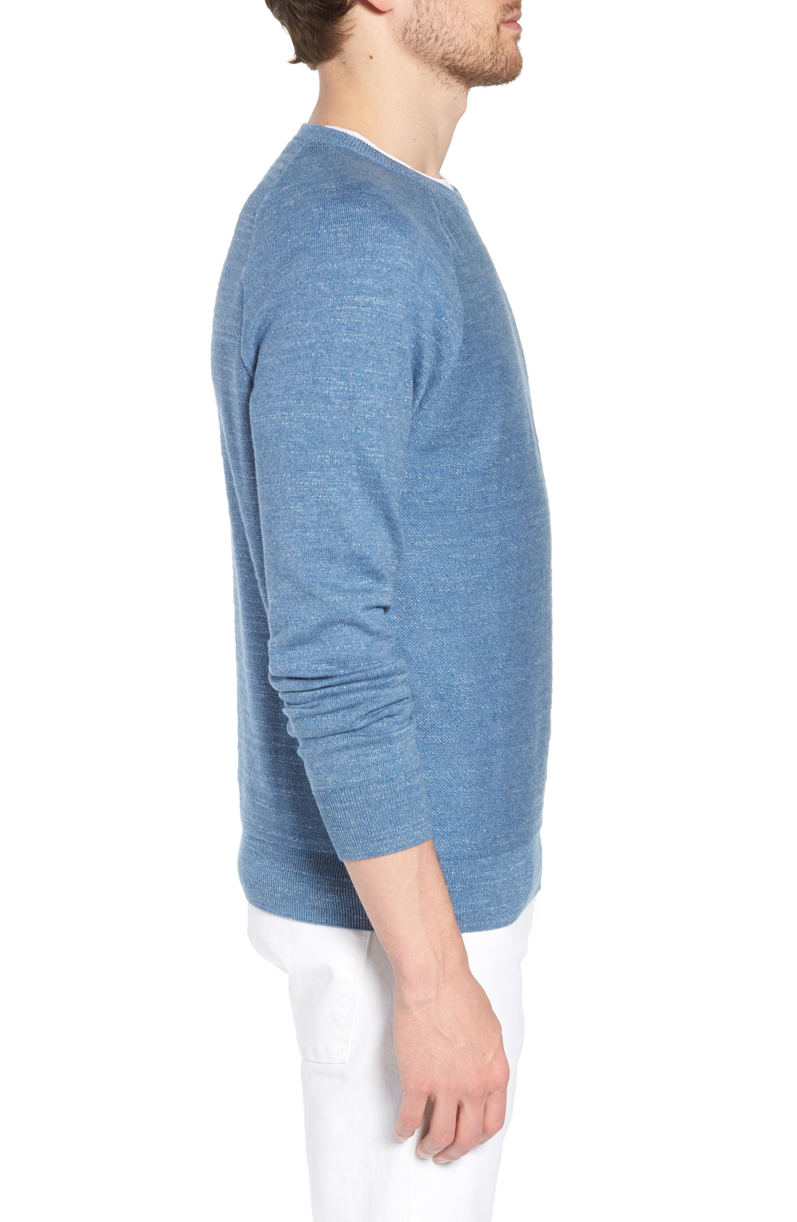 Slim Rugged Cotton Sweater,                             Alternate thumbnail 8, color,