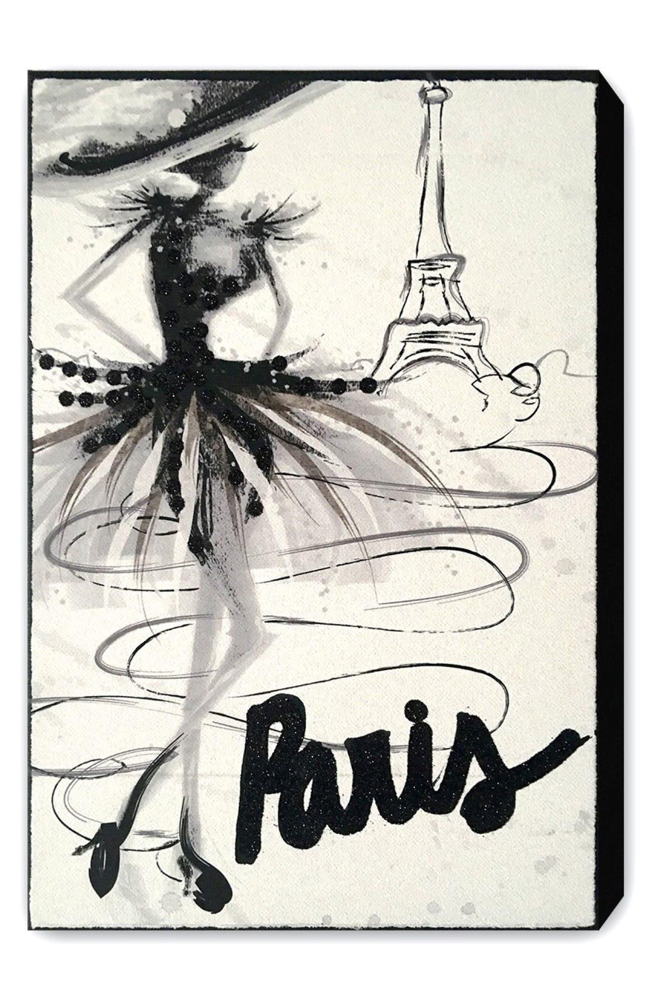 Wynwood Fashion Doll Paris Canvas Wall Art,                             Main thumbnail 1, color,