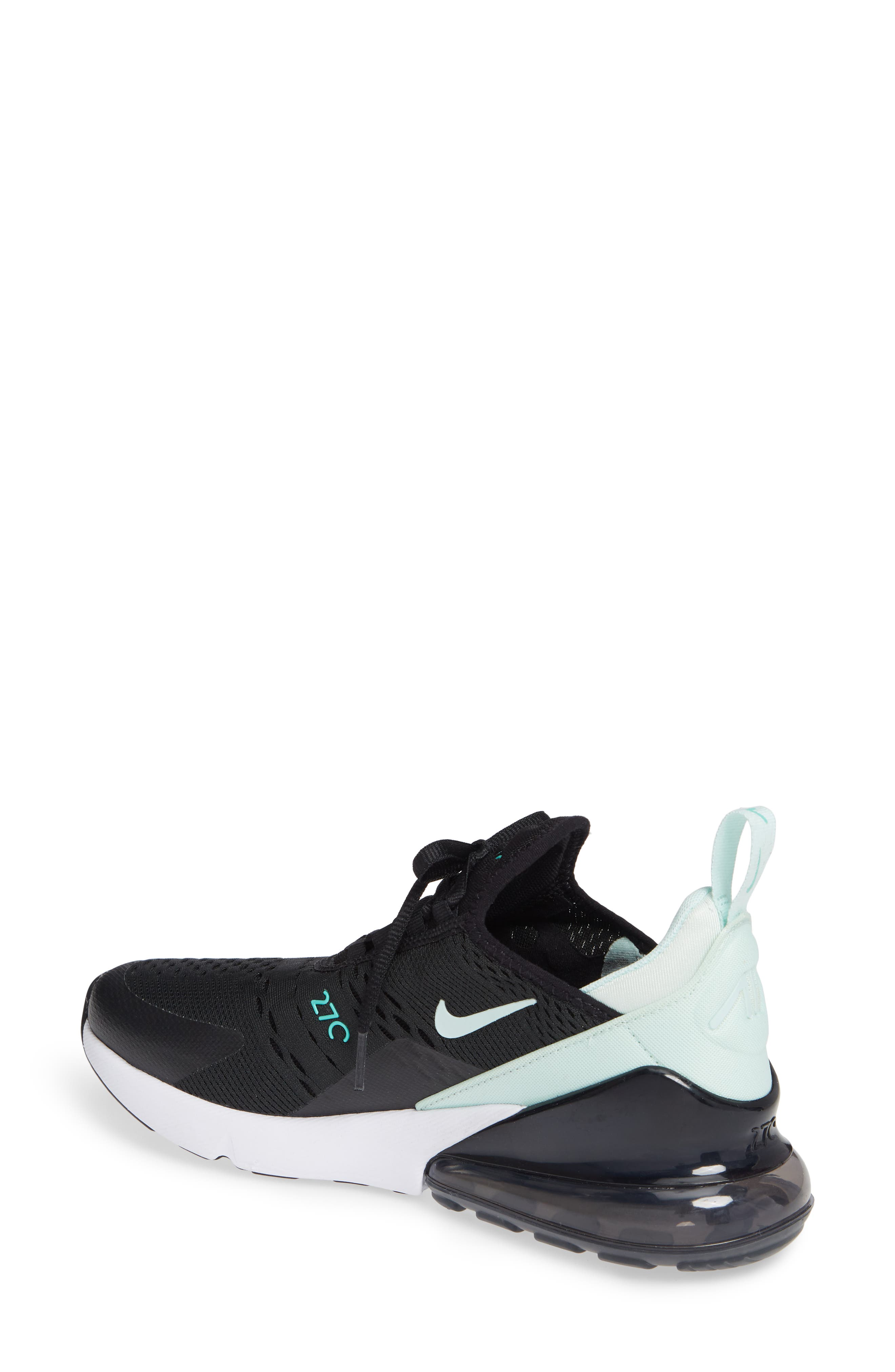 Air Max 270 Premium Sneaker,                             Alternate thumbnail 2, color,                             BLACK/ IGLOO TURQUOISE WHITE