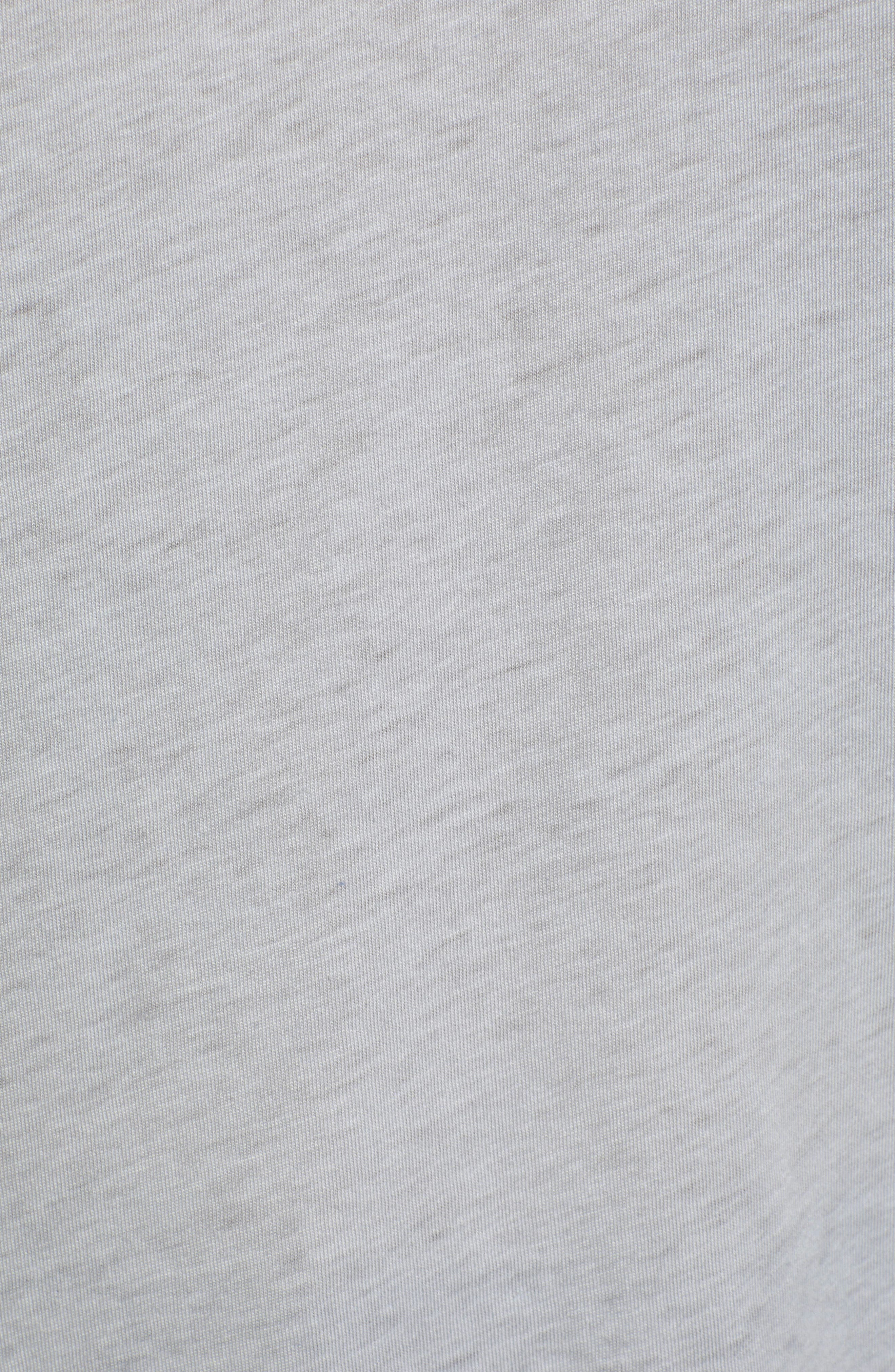 Half Sleeve Baseball Tee,                             Alternate thumbnail 5, color,                             GREY HTHR- BLUE SODALITE COMBO
