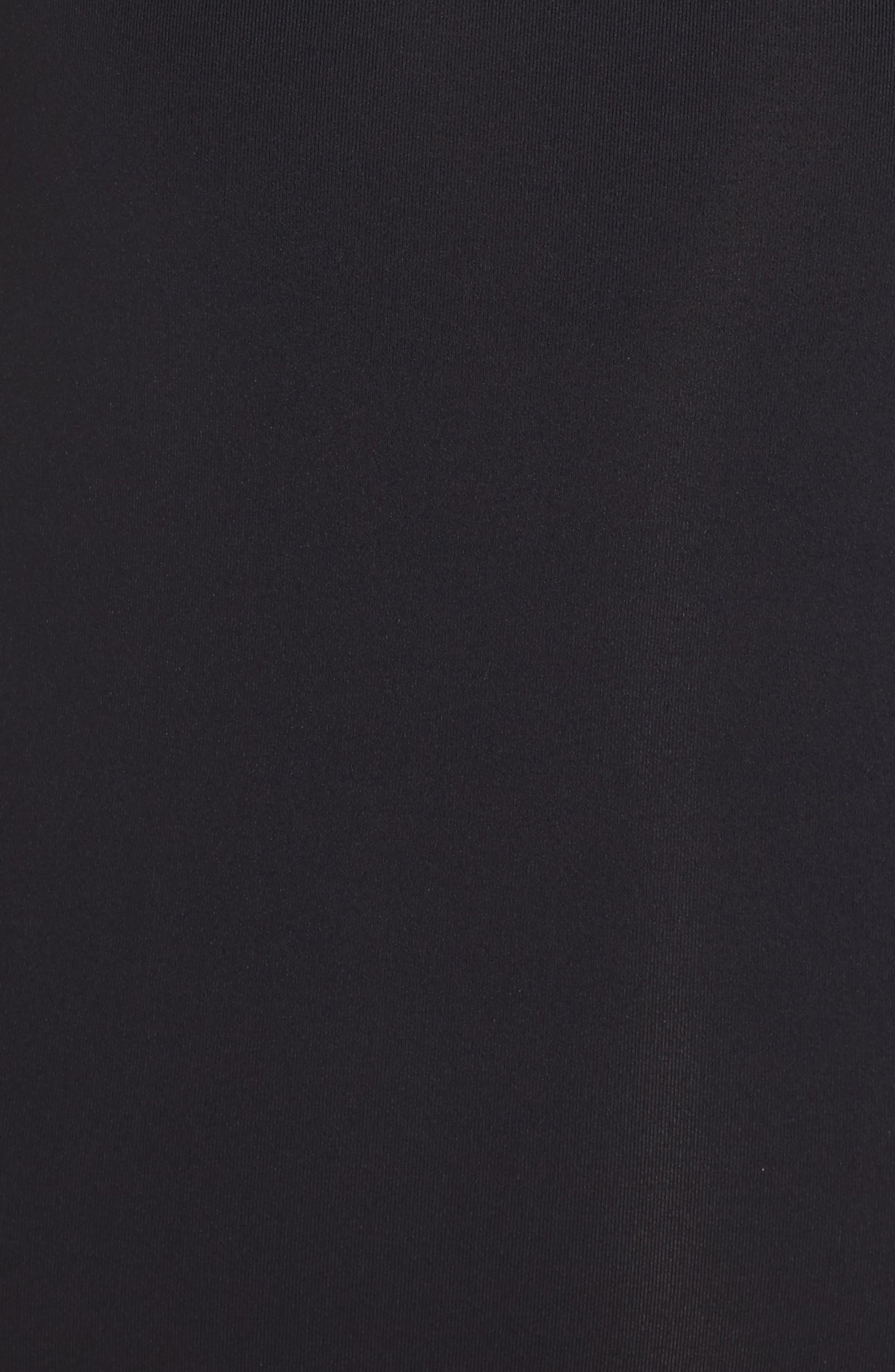 Active Keyole One-Piece Swimsuit,                             Alternate thumbnail 5, color,                             BLACK