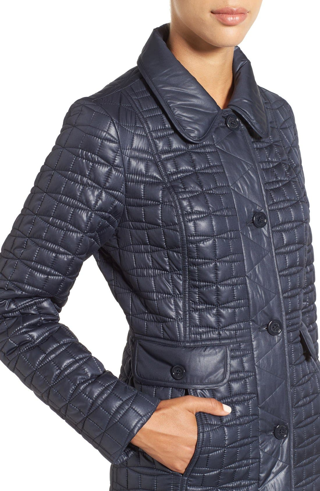 water resistant quilted coat,                             Alternate thumbnail 16, color,
