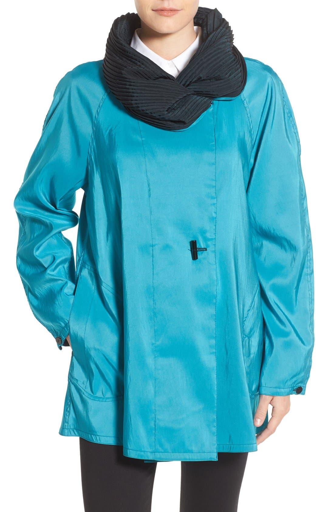 'Mini Donatella' Reversible Pleat Hood Packable Travel Coat,                             Main thumbnail 8, color,