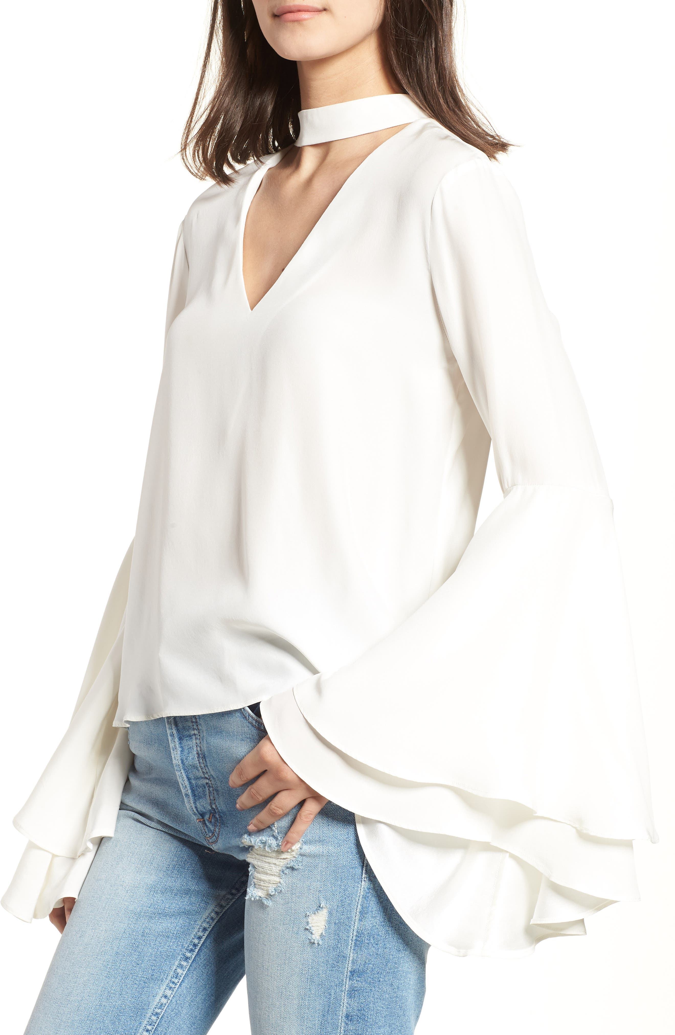 Bell Sleeve Top,                             Main thumbnail 1, color,                             908