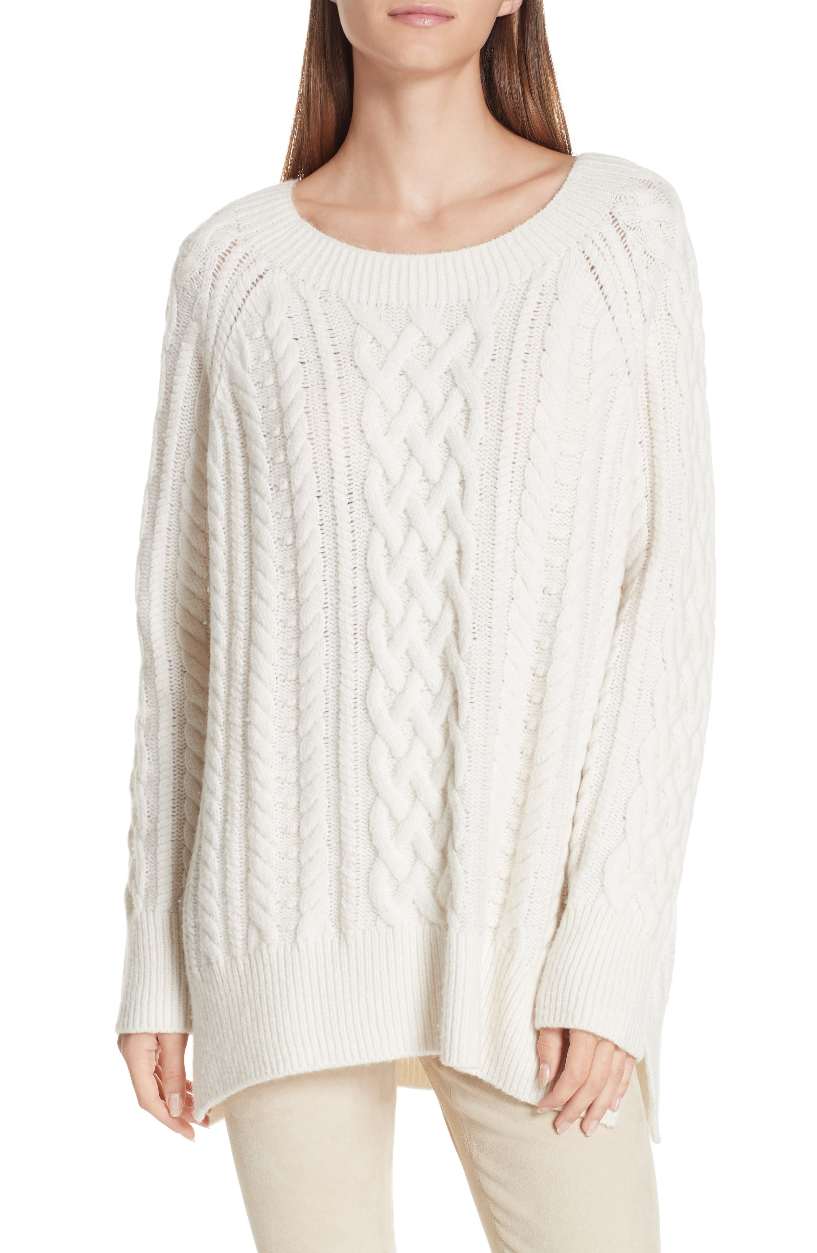 Cable Stitch Tunic Sweater by Vince