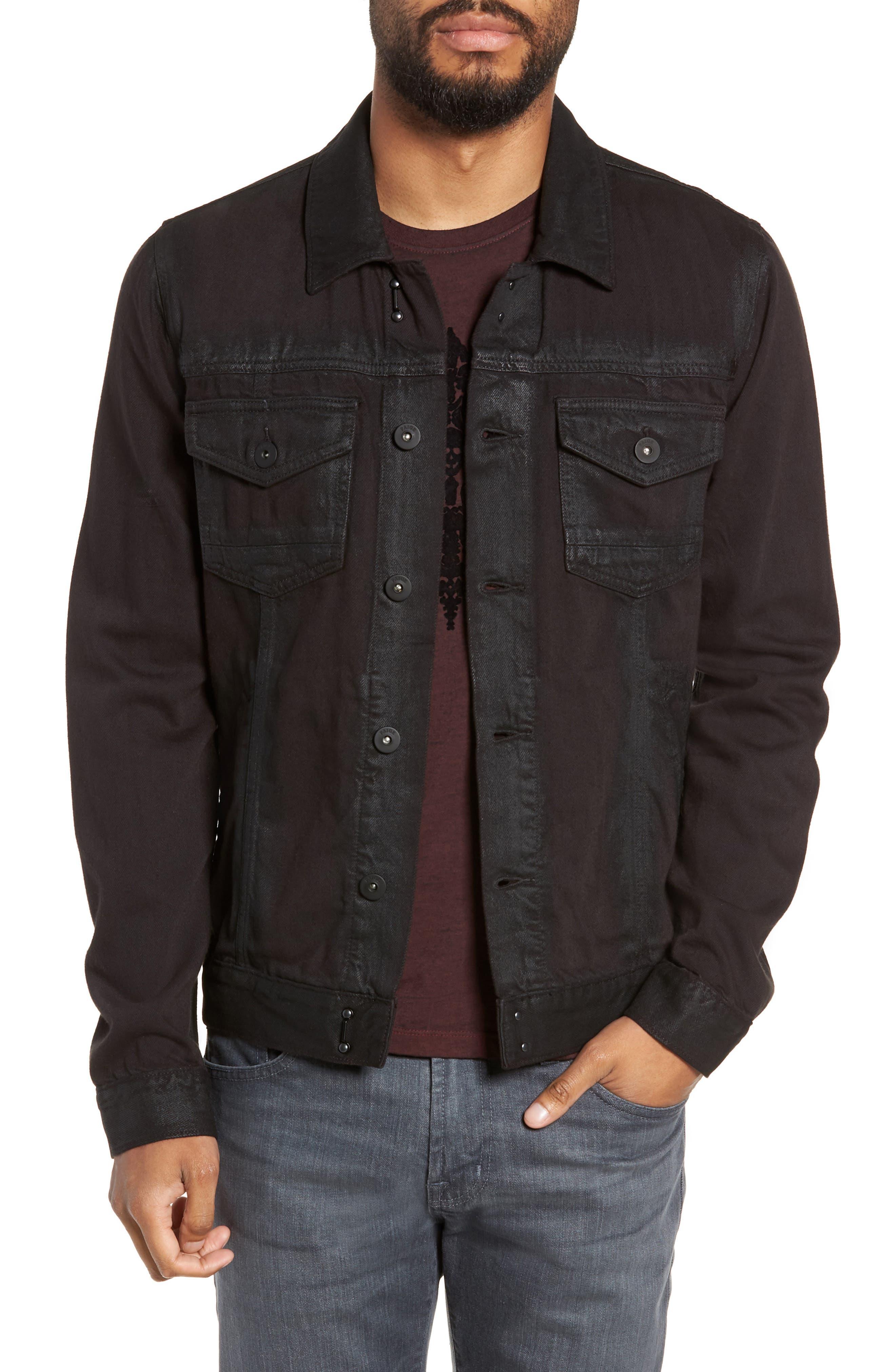 Scout Denim Jacket,                             Main thumbnail 1, color,                             VIVID BLACK COATED