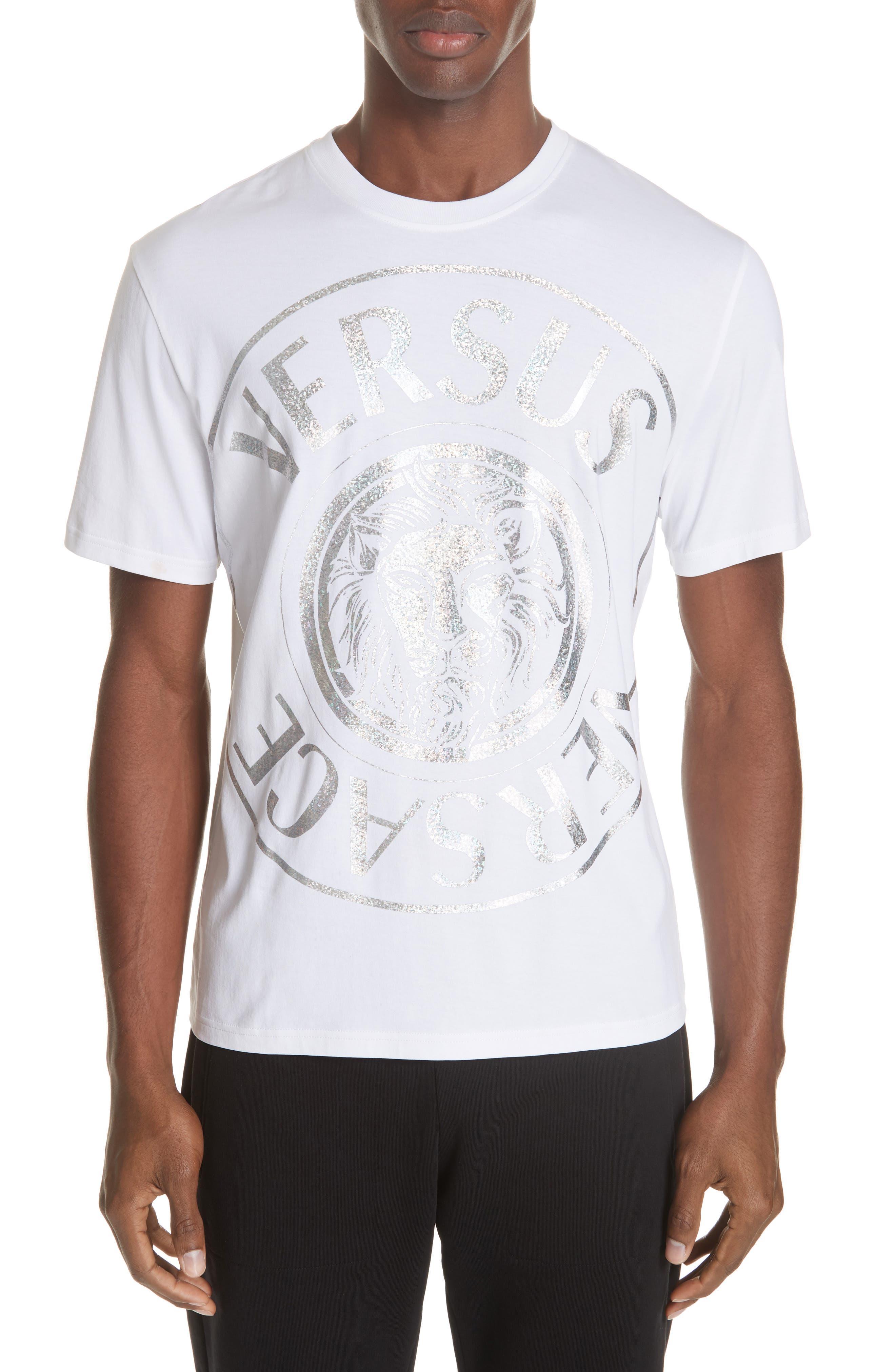Foil T-Shirt,                             Main thumbnail 1, color,                             WHITE