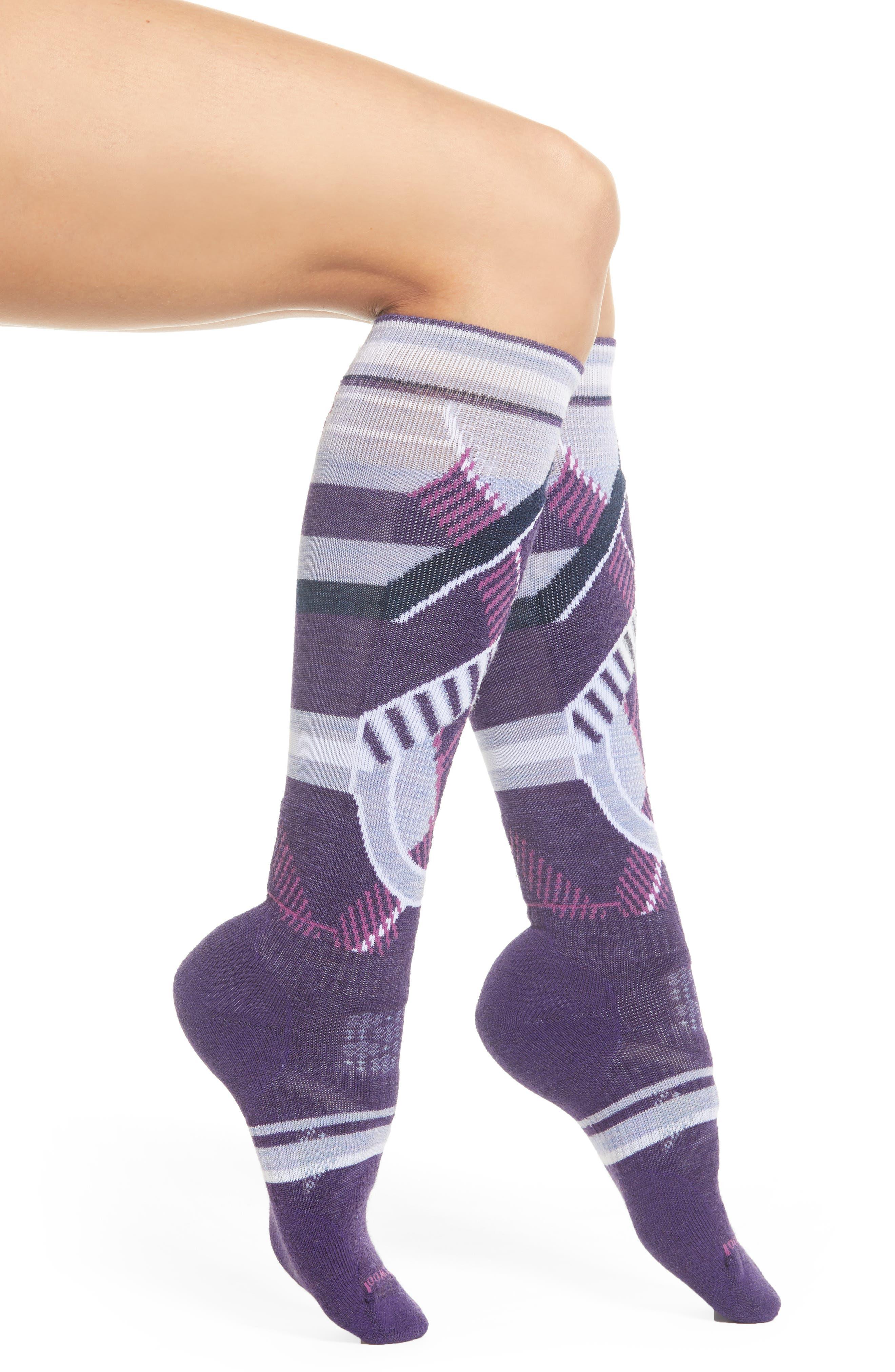 PhD<sup>®</sup> Slopestyle Medium Ski Socks,                             Main thumbnail 1, color,                             MOUNTAIN PURPLE