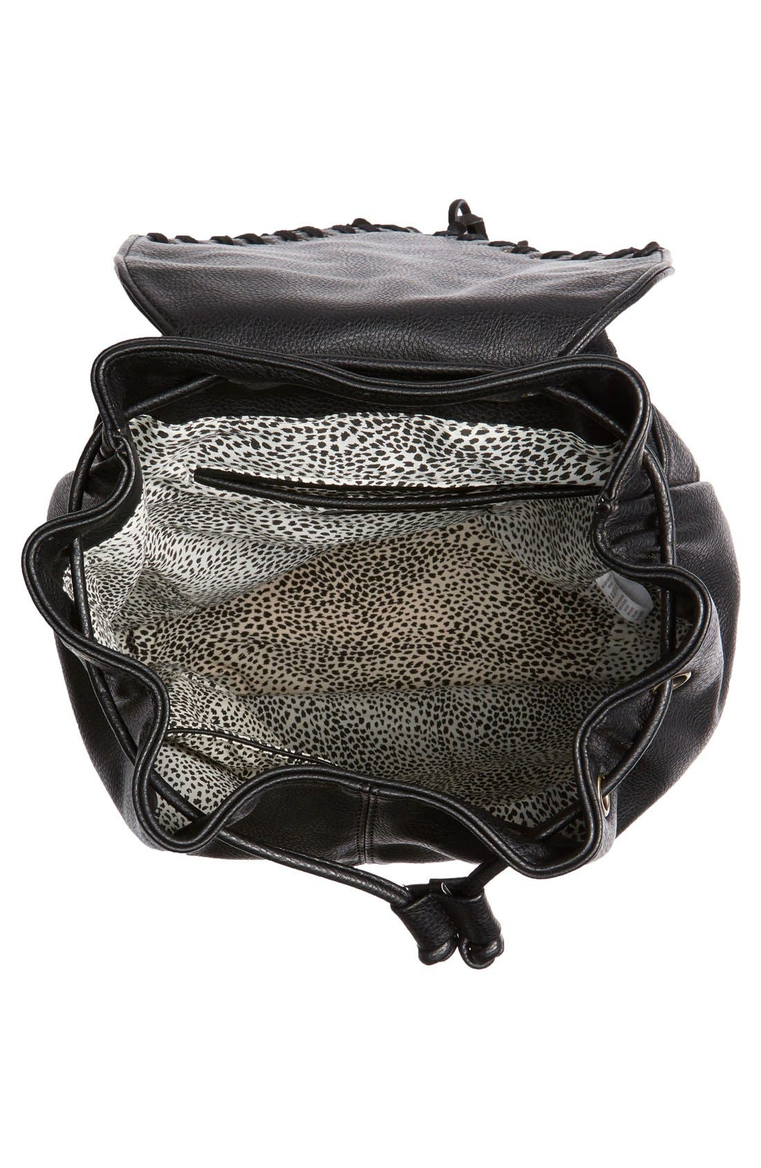 'Hartley' Faux Leather Backpack,                             Alternate thumbnail 2, color,                             001