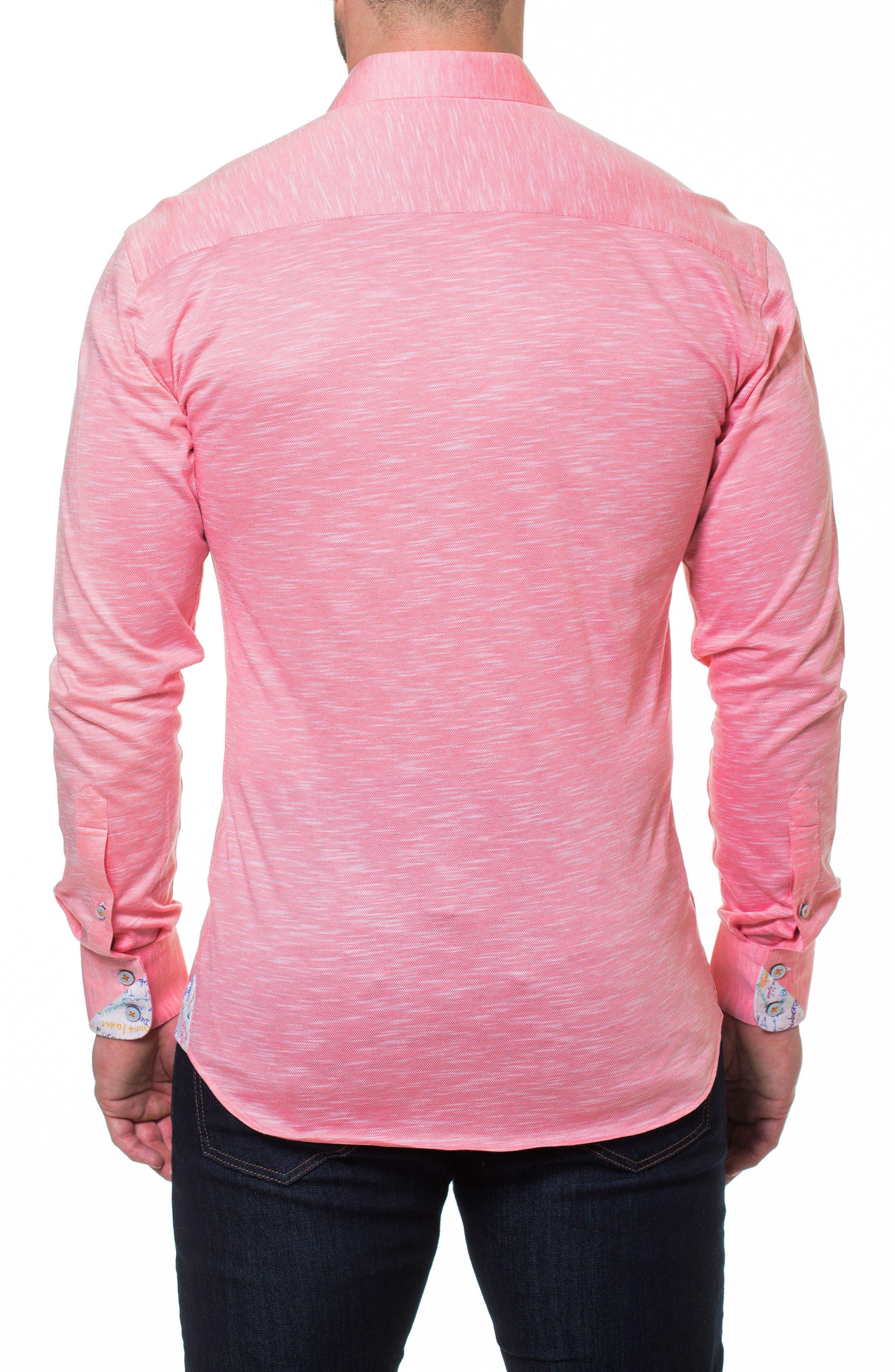 Wall Street Salmon Slim Fit Sport Shirt,                             Alternate thumbnail 2, color,
