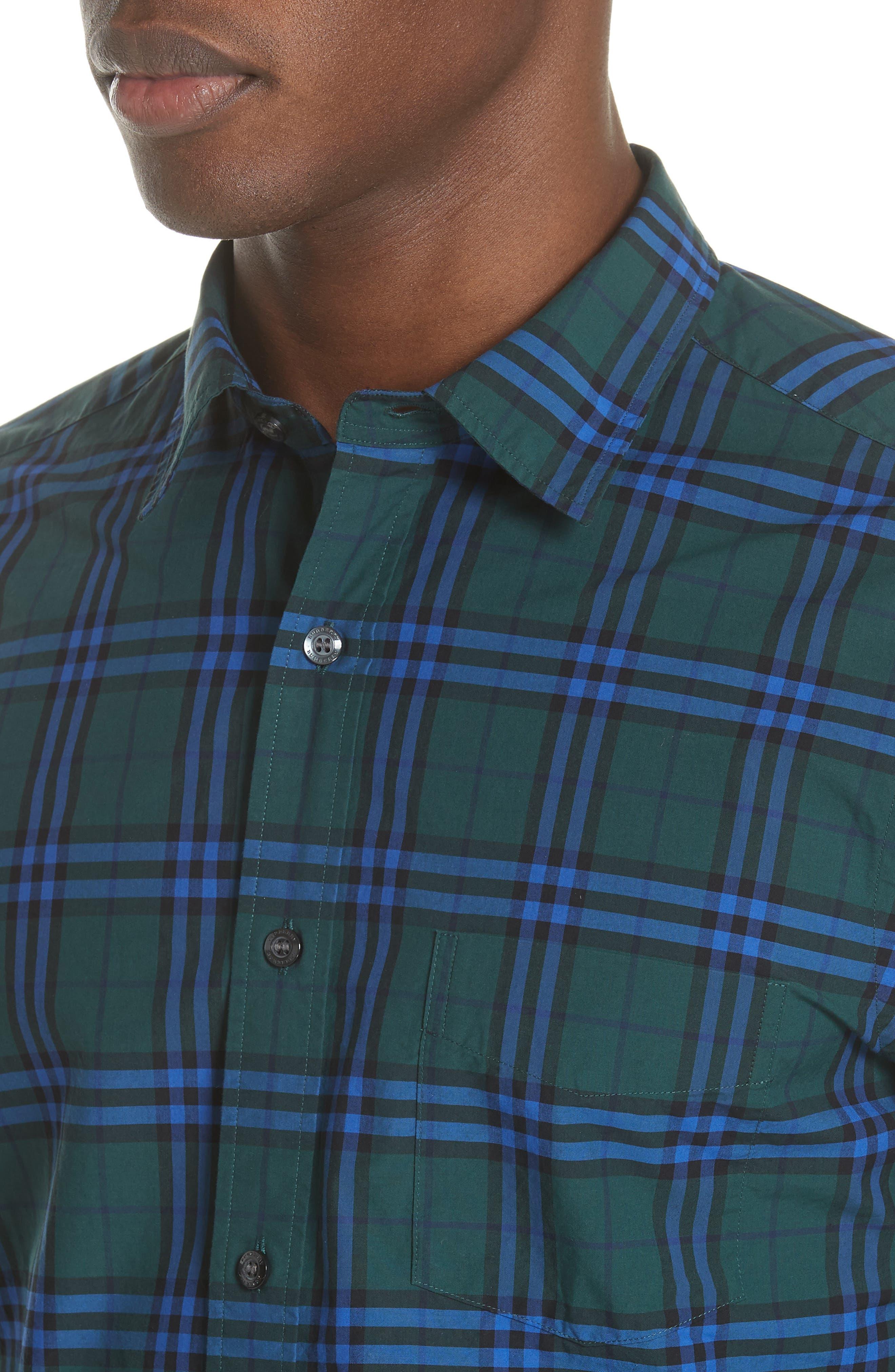 Alexander Check Sport Shirt,                             Alternate thumbnail 4, color,                             341
