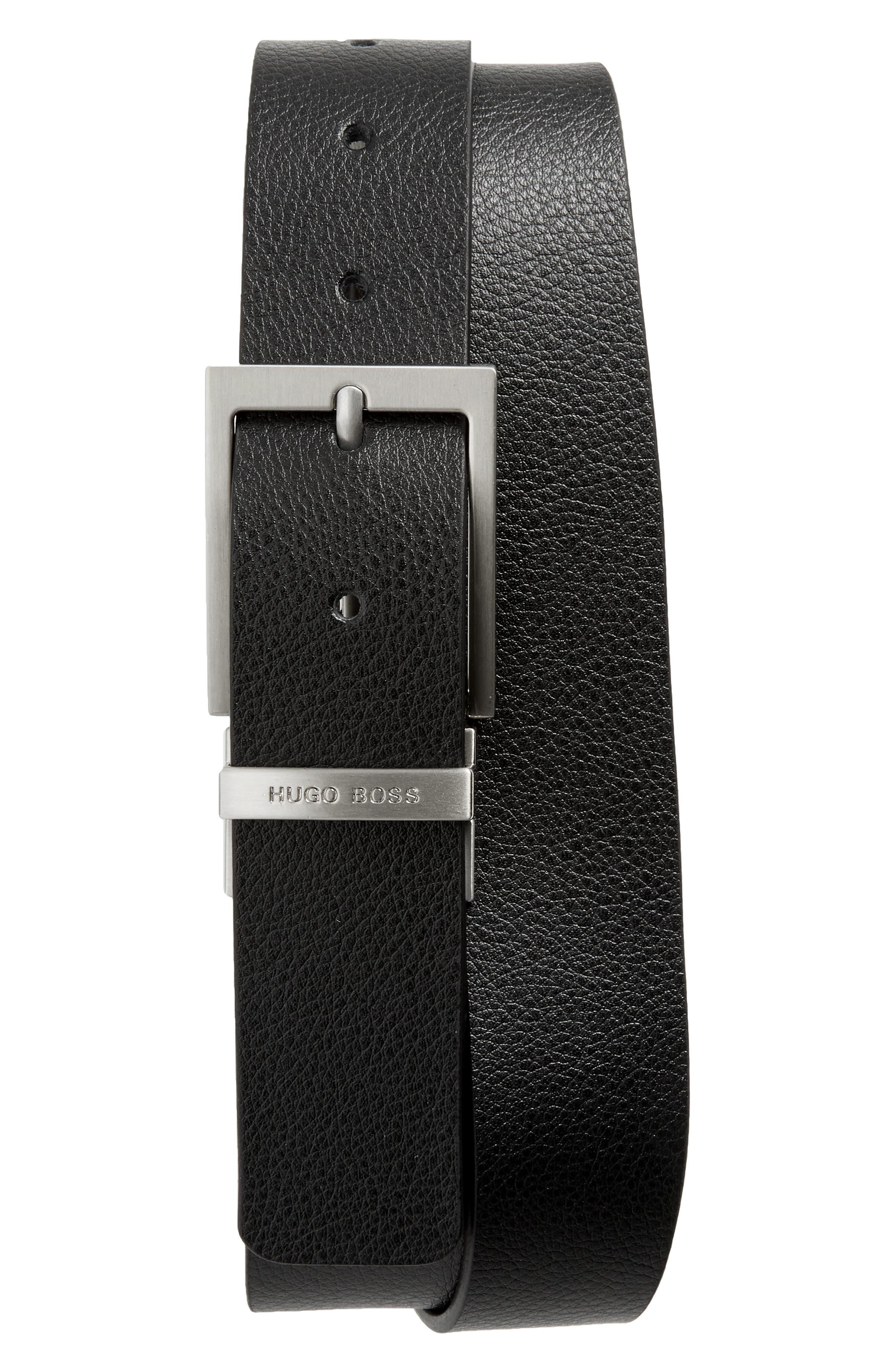 Reming Reversible Leather Belt,                             Main thumbnail 1, color,                             BLACK/ BROWN