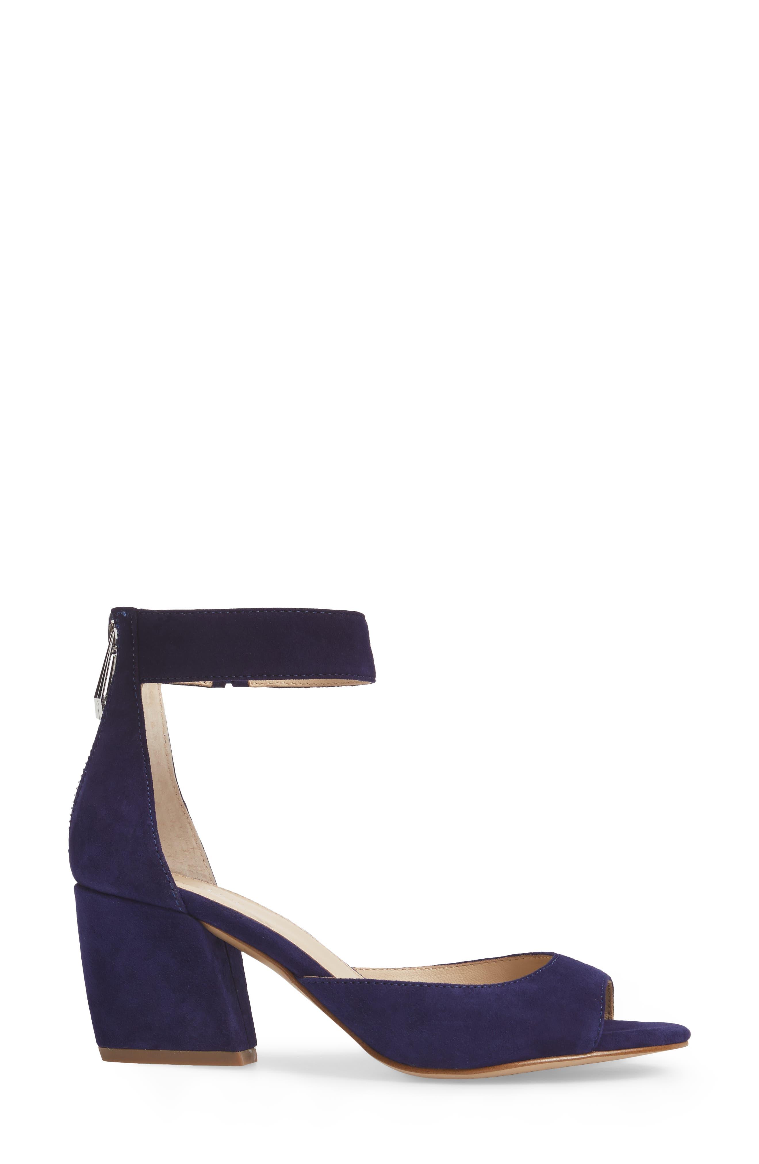 Pilar Ankle Strap Sandal,                             Alternate thumbnail 3, color,                             403
