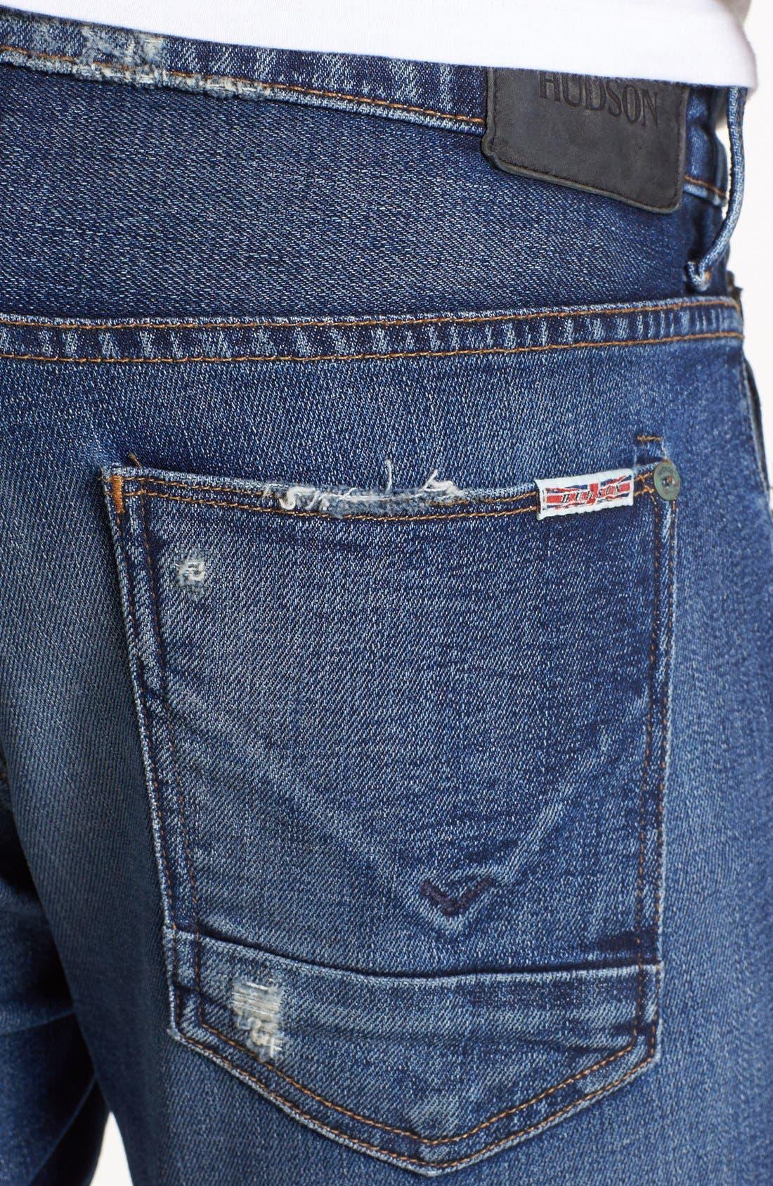'Byron' Straight Leg Jeans,                             Alternate thumbnail 4, color,                             400
