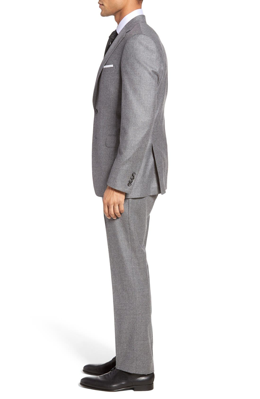 Beckett Classic Fit Solid Wool & Cashmere Suit,                             Alternate thumbnail 4, color,                             050