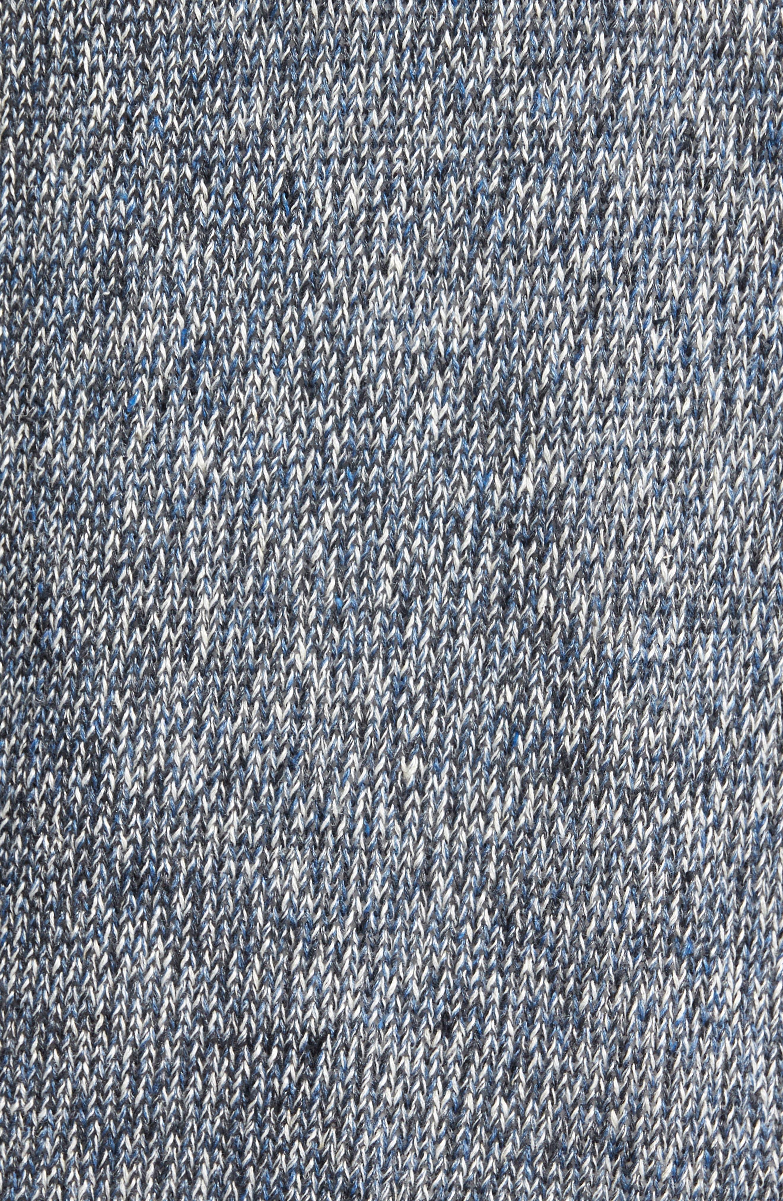 Slim Fit Marled Linen Zip Hoodie,                             Alternate thumbnail 5, color,                             400