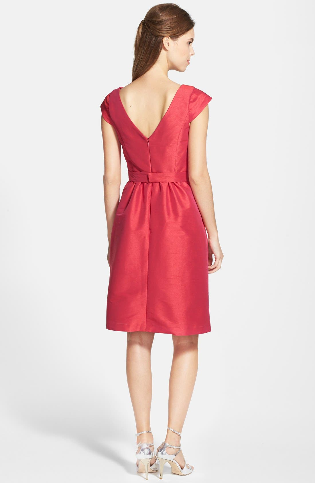Woven Fit & Flare Dress,                             Alternate thumbnail 24, color,