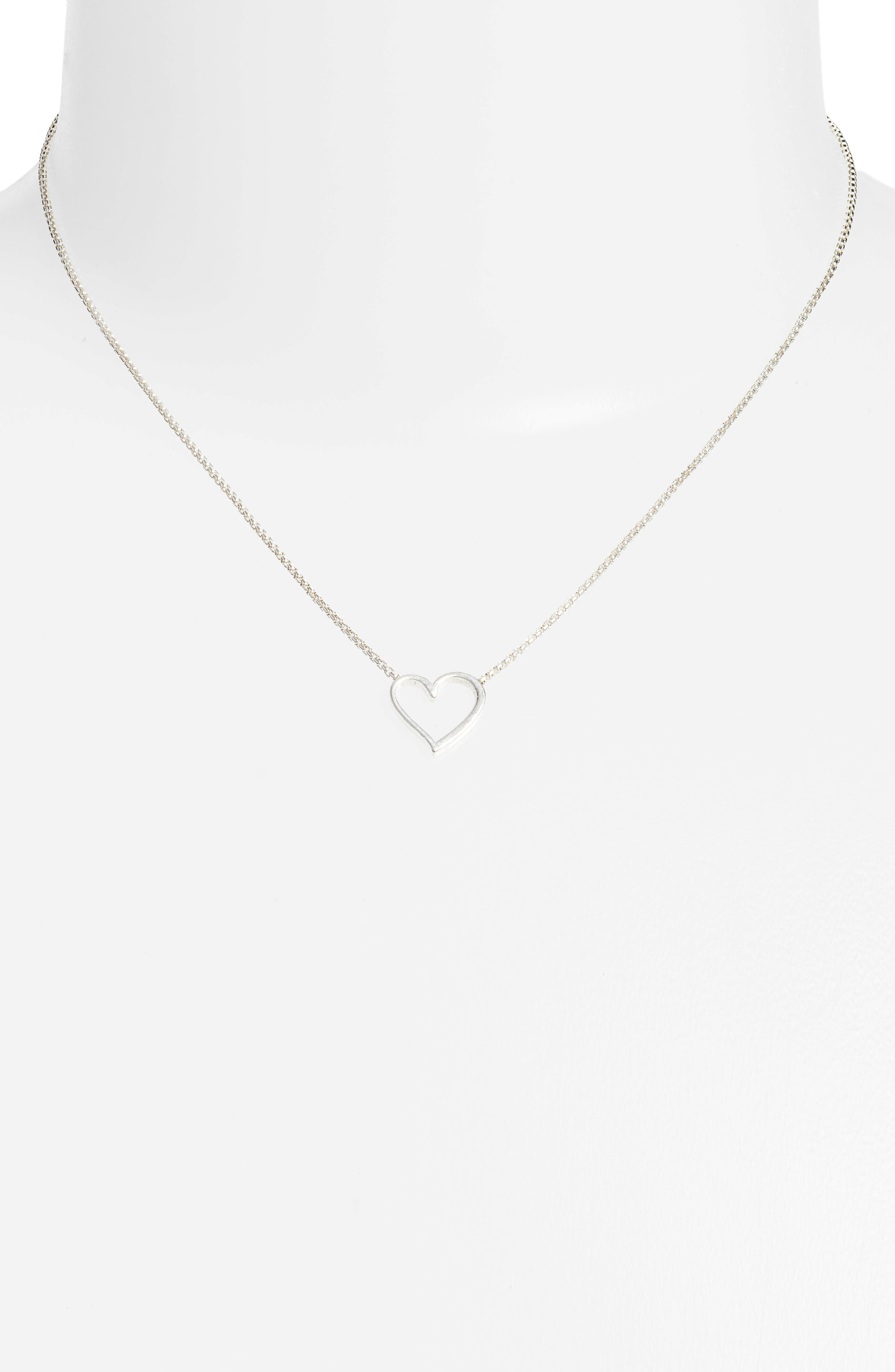 Heart Necklace,                             Alternate thumbnail 2, color,                             SILVER