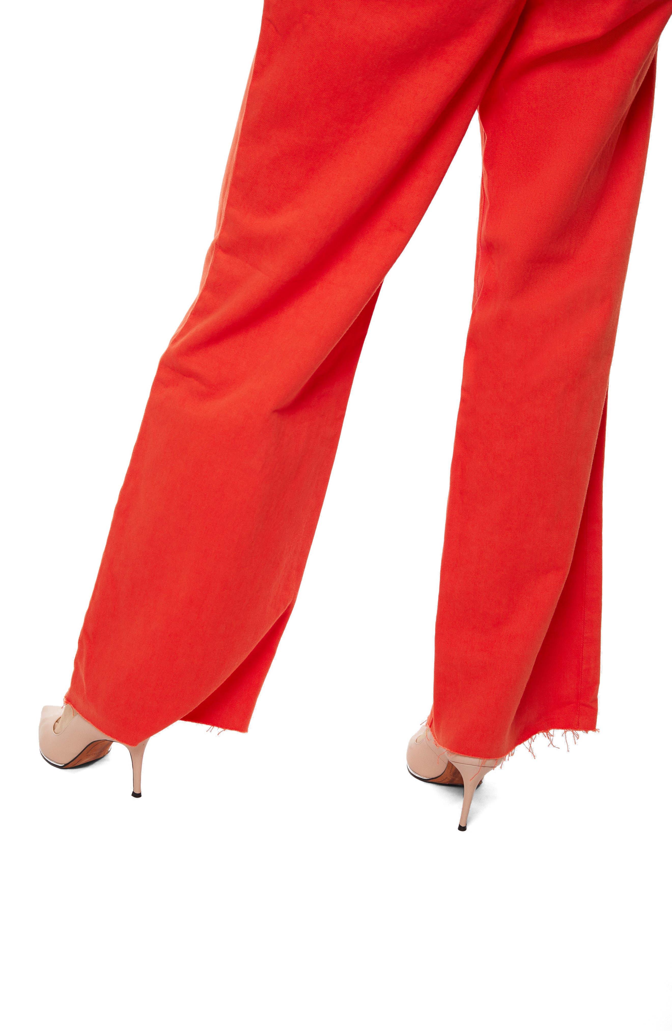 High Waist Wide Leg Pants,                             Alternate thumbnail 4, color,