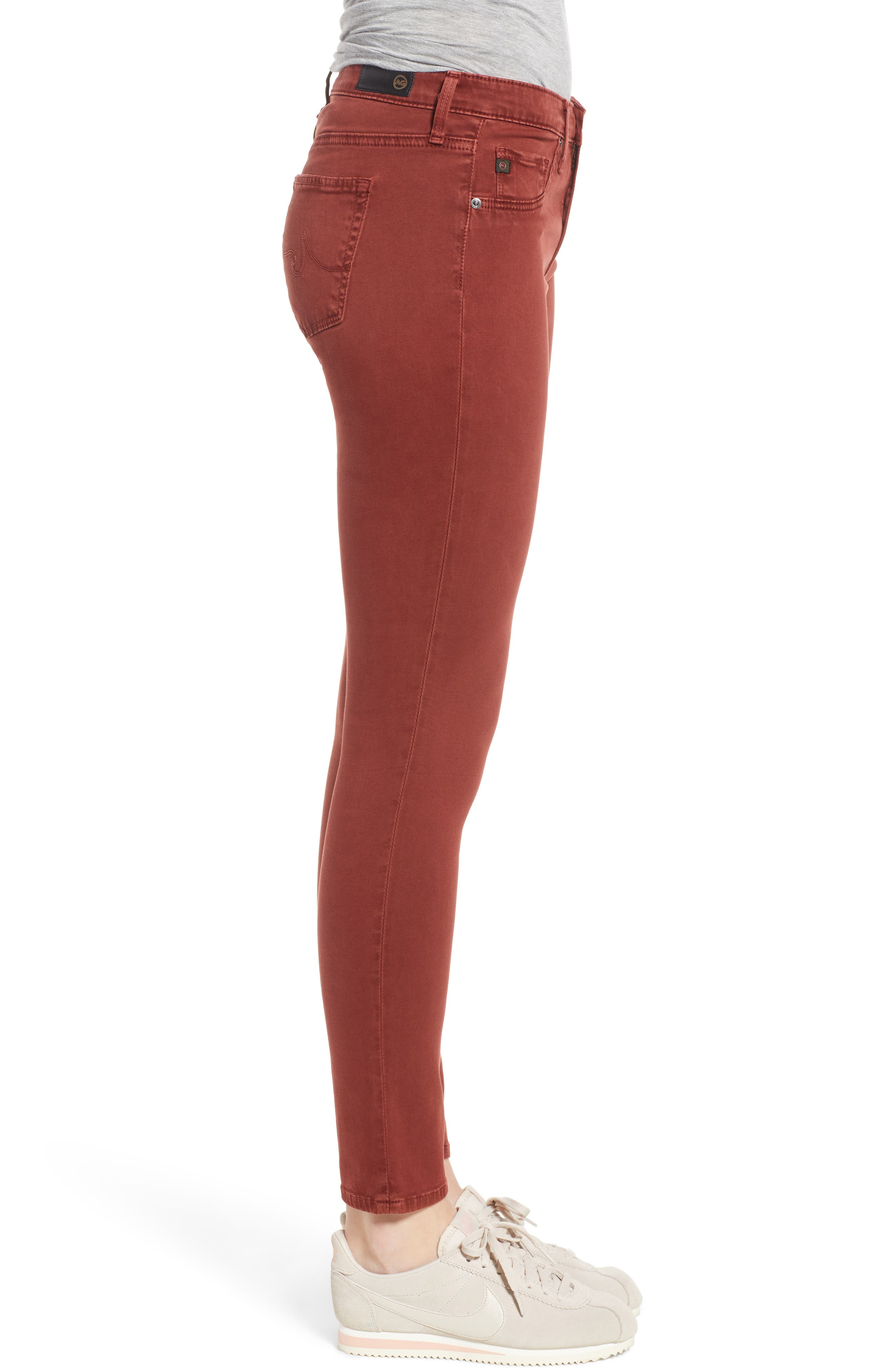 The Legging Ankle Jeans,                             Alternate thumbnail 3, color,                             SULFUR TANNIC RED