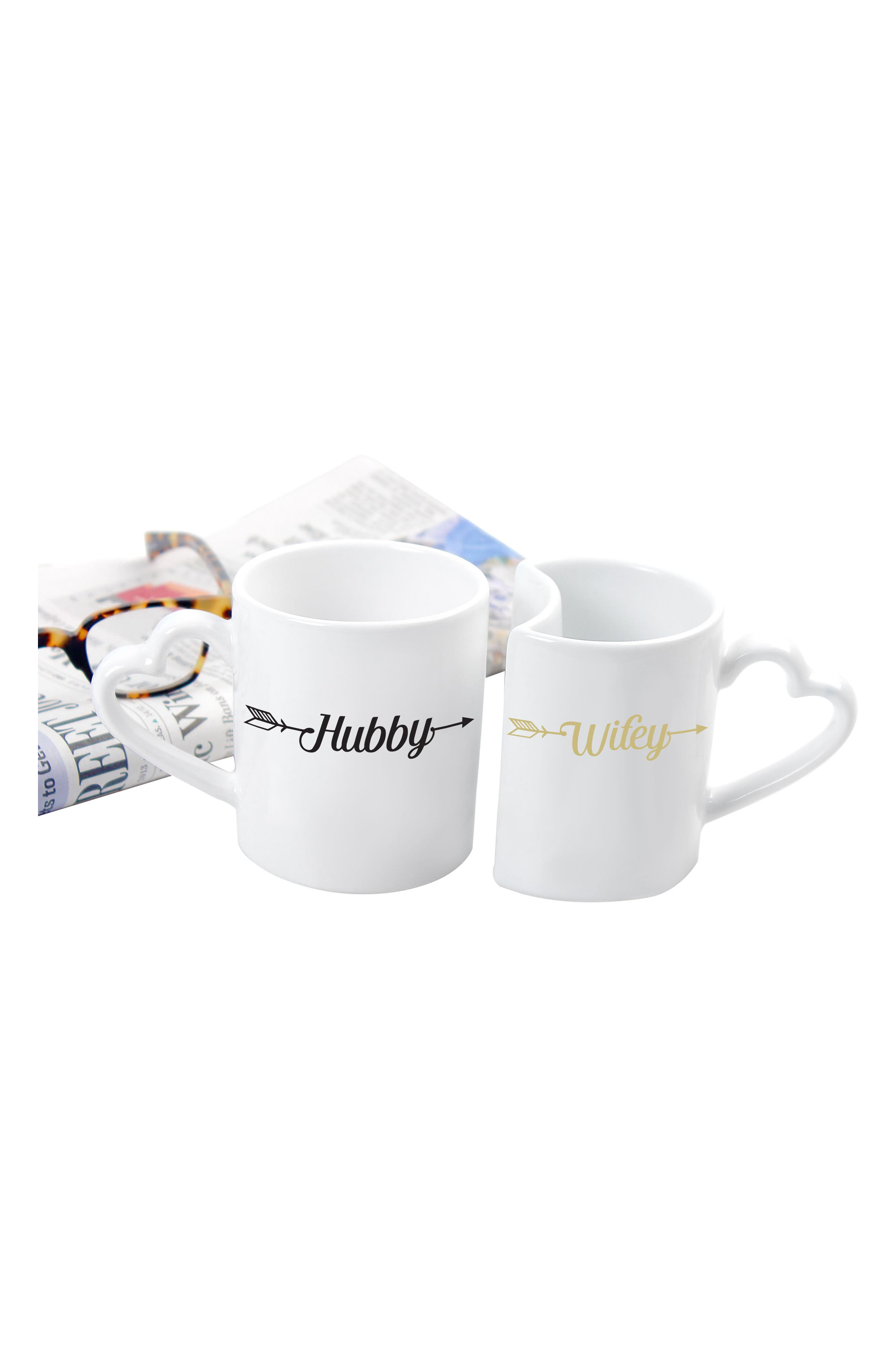 Hubby/Wifey Set of 2 Coffee Mugs,                             Alternate thumbnail 2, color,                             100