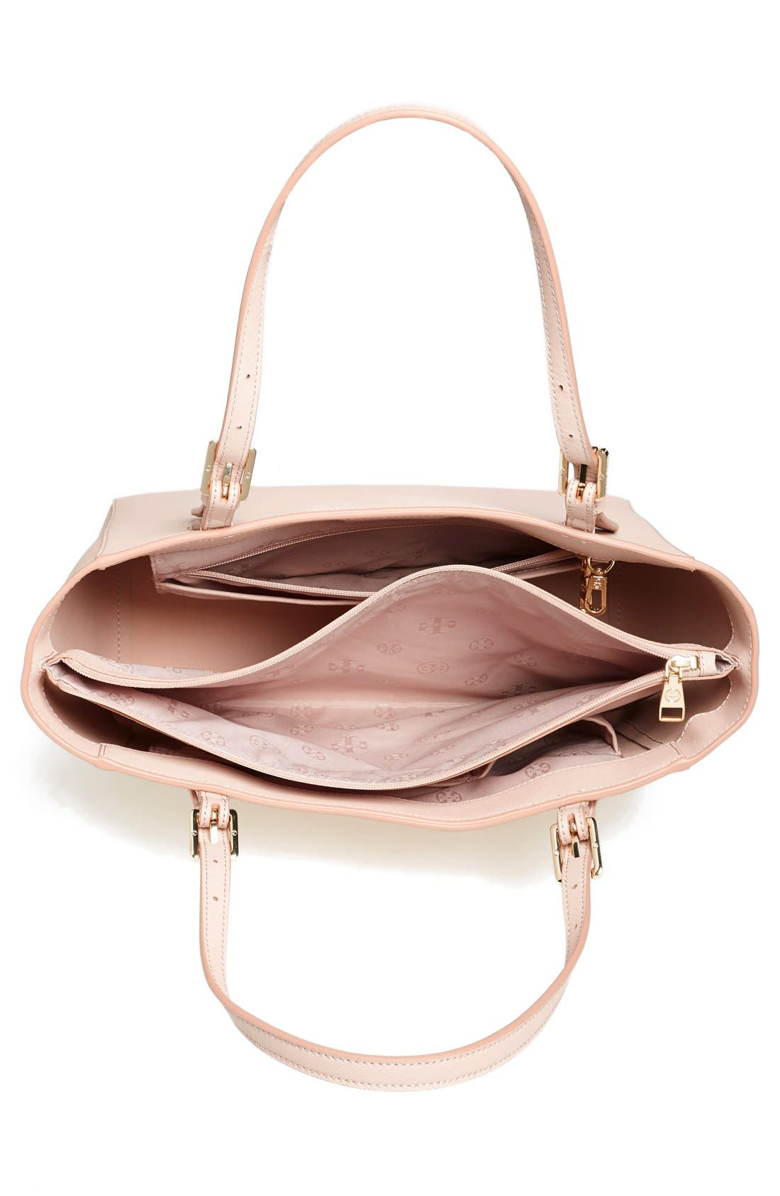 'Small York' Saffiano Leather Buckle Tote,                             Alternate thumbnail 46, color,