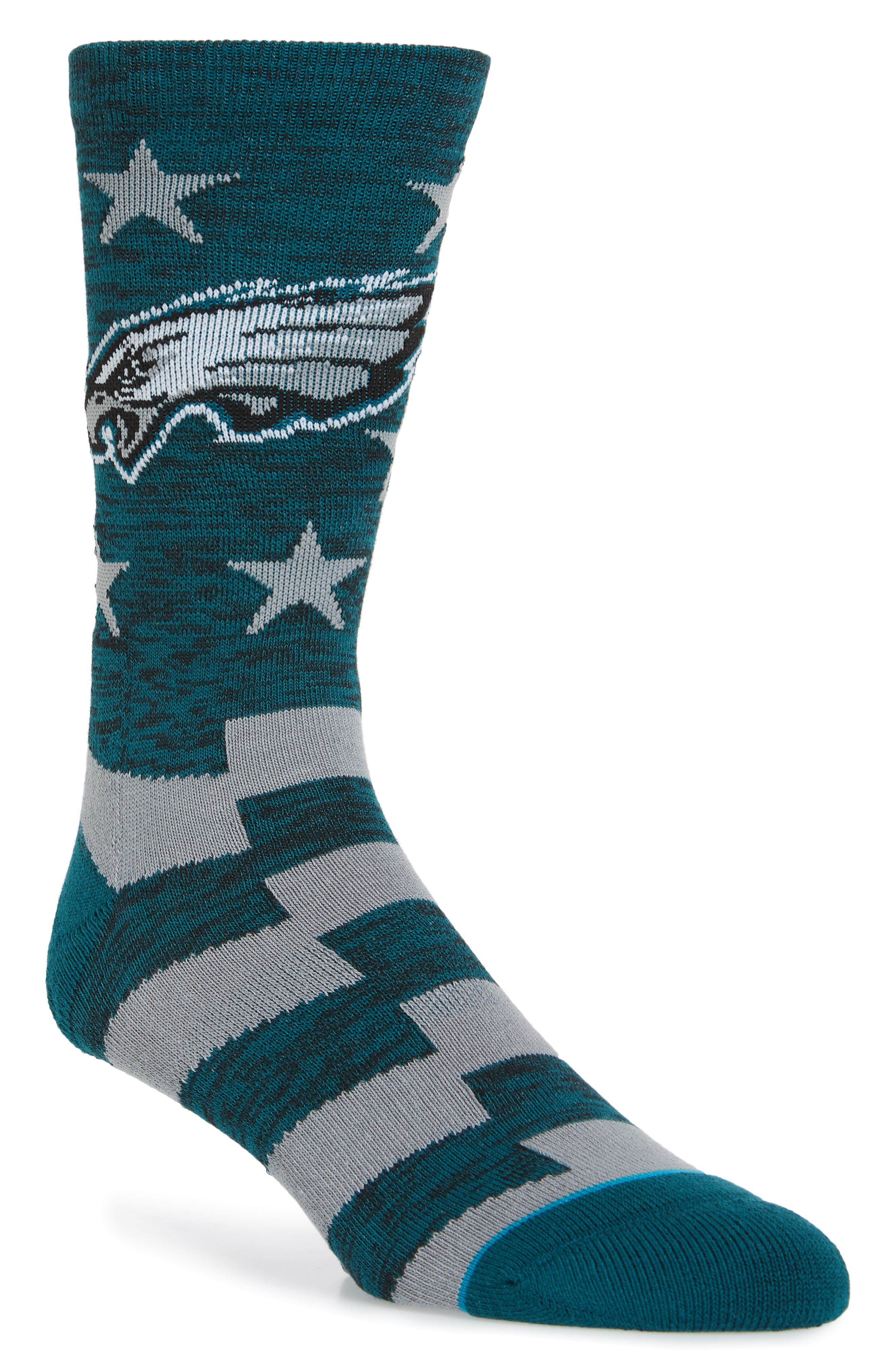 Philadelphia Eagles Banner Socks,                             Main thumbnail 1, color,                             020