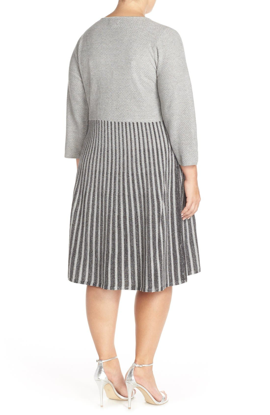 Scoop Neck Fit & Flare Sweater Dress,                             Alternate thumbnail 2, color,                             082